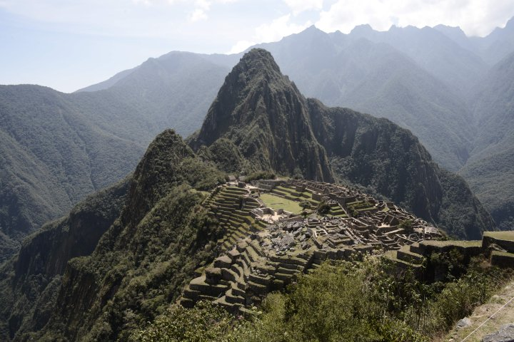 This picture taken on August 27, 2016 shows Machu Picchu, which stands 2,430 meters above sea-level.