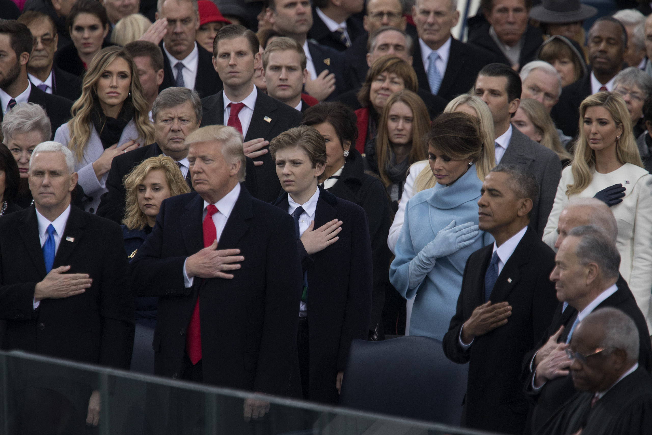 At the inauguration of Donald Trump who was sworn in as the 45th President of the United States in Washington, on Jan. 20, 2017.