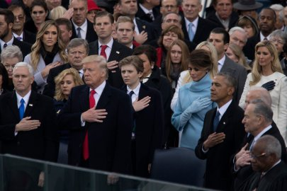 At the inauguration of Donald Trump who was sworn in as the 45th President of the United States in Washington DC, on Jan. 20, 2017.