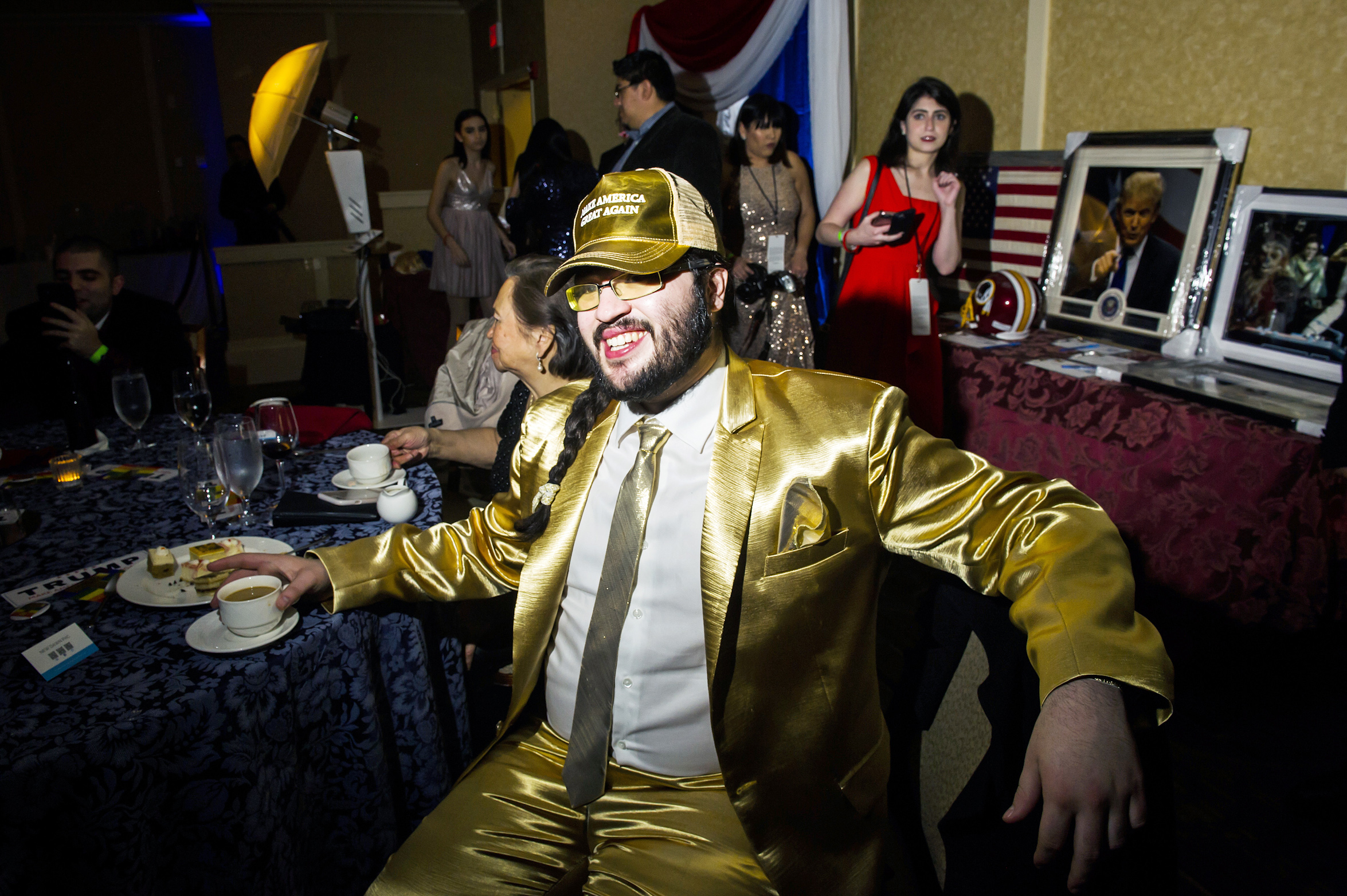 Andy Barr,  from Seattle at the Inaugural Deploraball hosted by Gays for Trump at the Bolger Center in Potomac, Maryland on January 20, 2017.