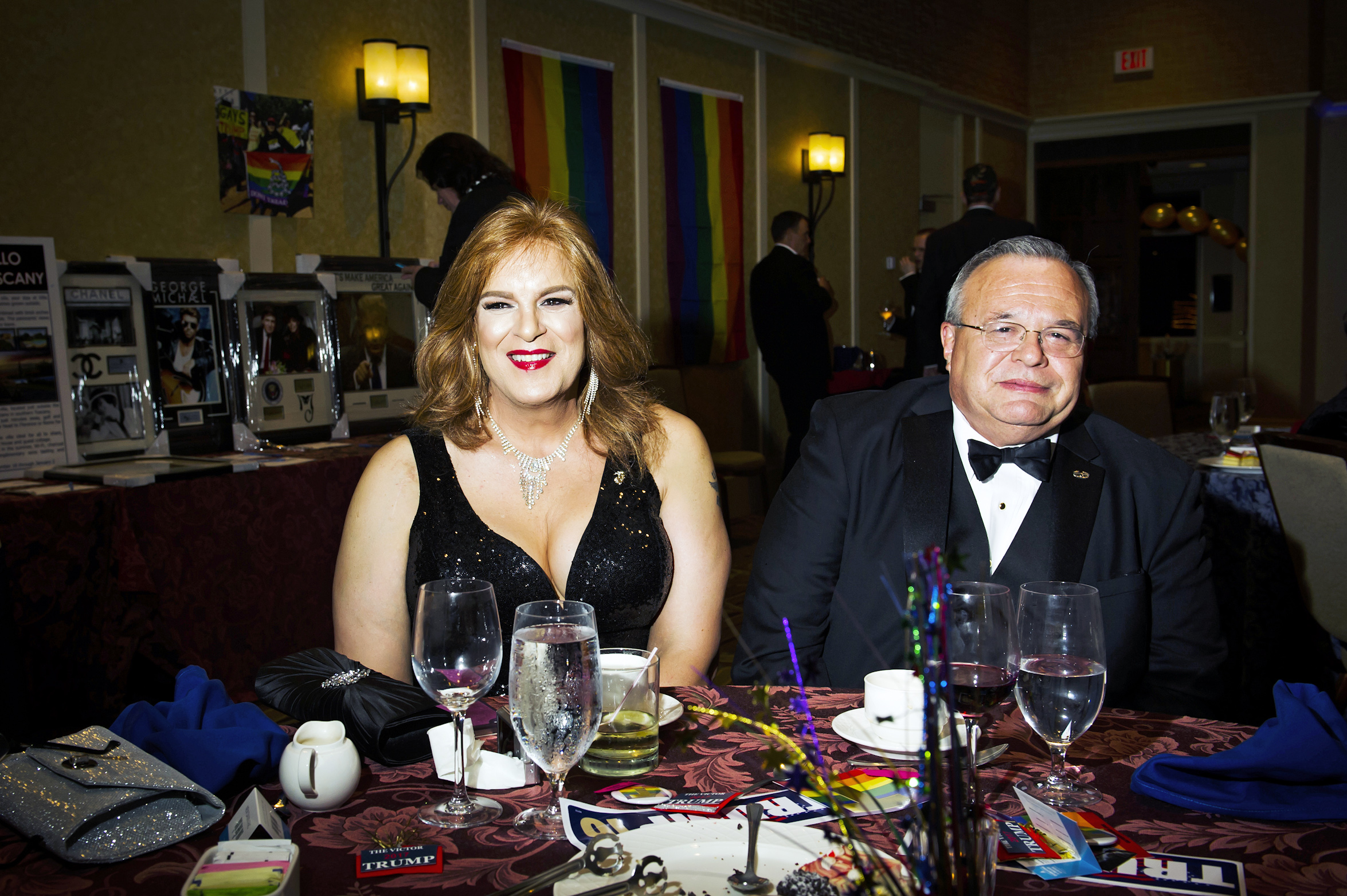 Scenes from the Inaugural Deploraball hosted by Gays for Trump at the Bolger Center in Potomac, Maryland on January 20, 2017.