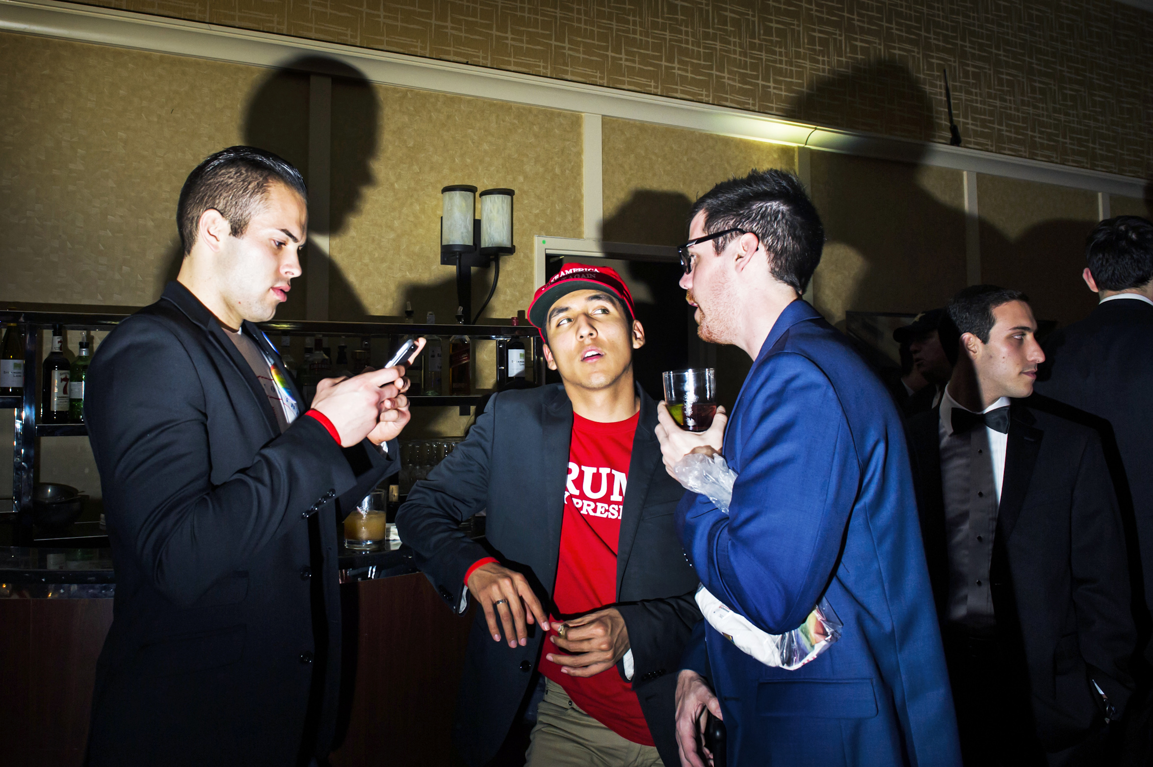 The bar scene at the Inaugural Deploraball hosted by Gays for Trump at the Bolger Center in Potomac, Maryland on January 20, 2017.