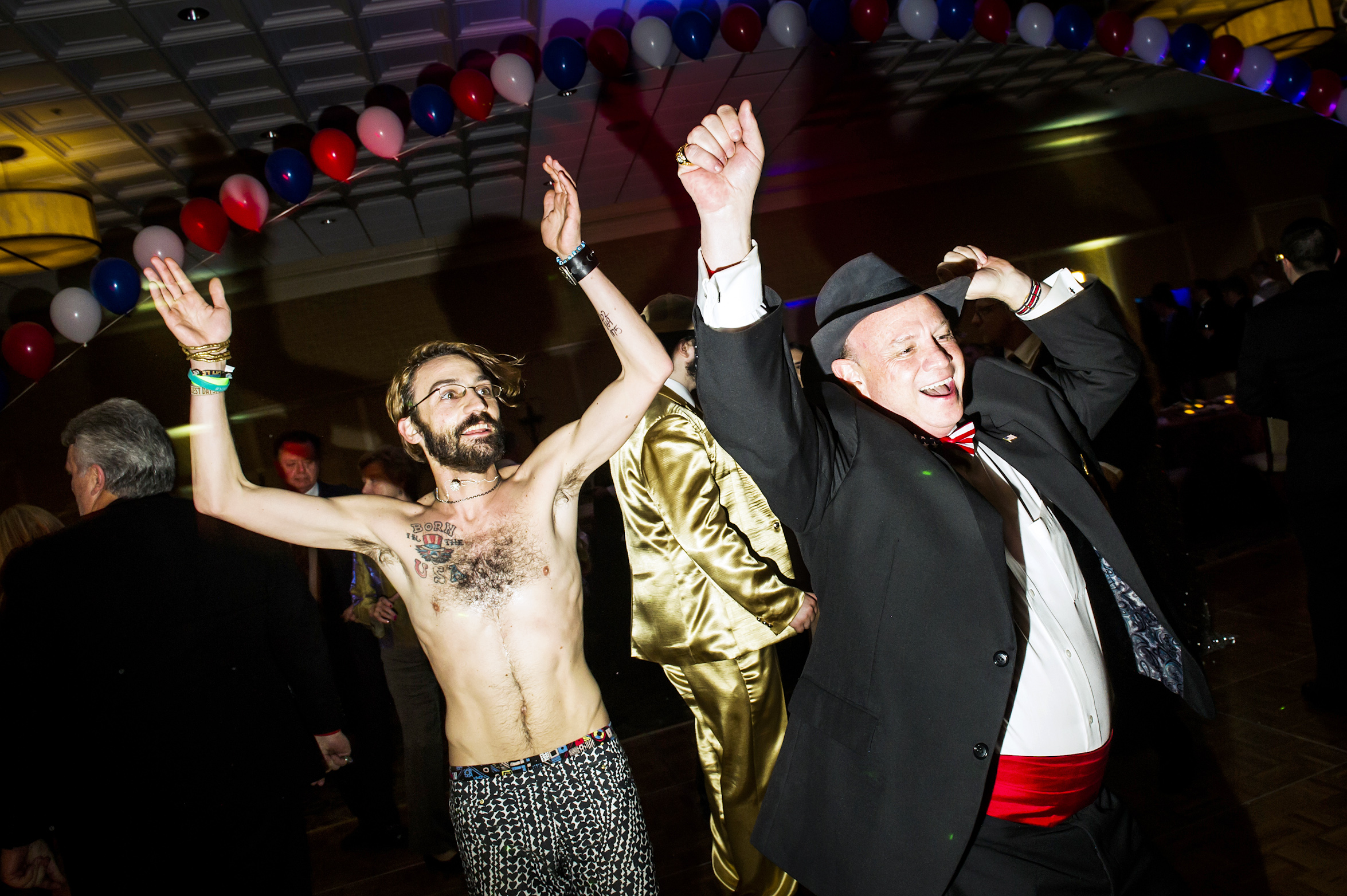 Dancing at the Inaugural Deploraball hosted by Gays for Trump at the Bolger Center in Potomac, Maryland on January 20, 2017.