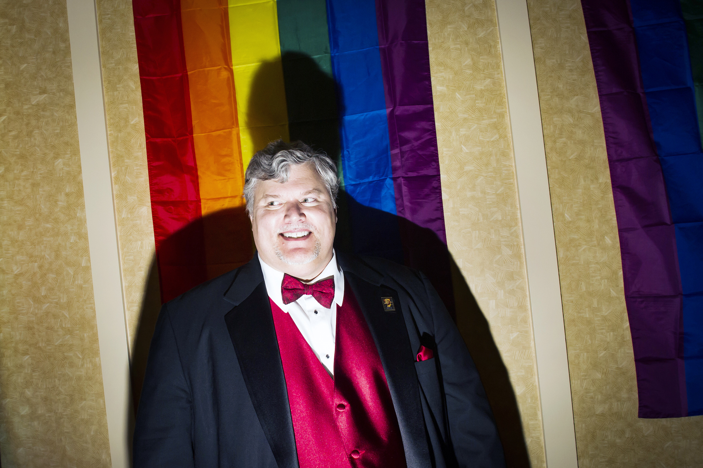 Robert Luke Antonek at the Inaugural Deploraball hosted by Gays for Trump at the Bolger Center in Potomac, Maryland on January 20, 2017.