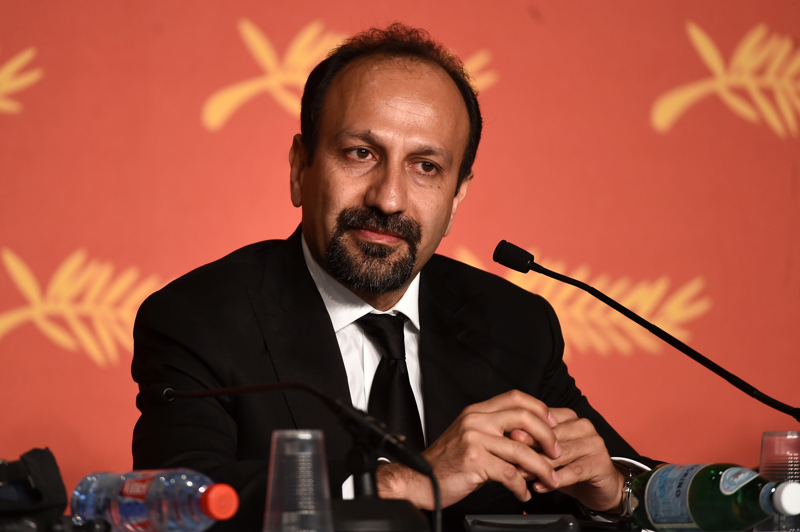Asghar Farhadi, winner of the award for Best Script for the movie « The Salesman » , attends the Palme D'Or Winner Press Conference during the 69th annual Cannes Film Festival at the Palais des Festivals in Cannes on May 22, 2016.