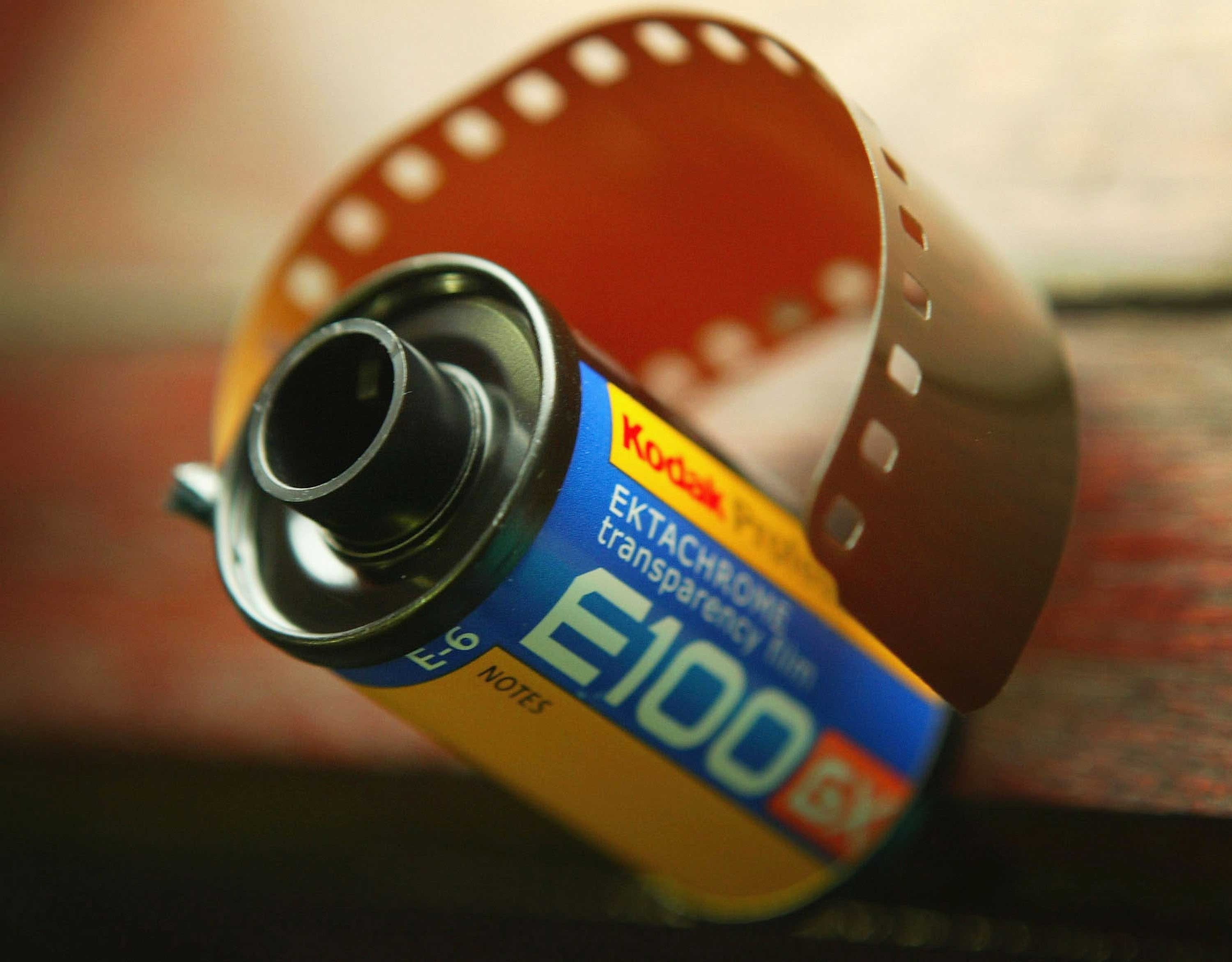 A roll of Koday's Ektachrome film.