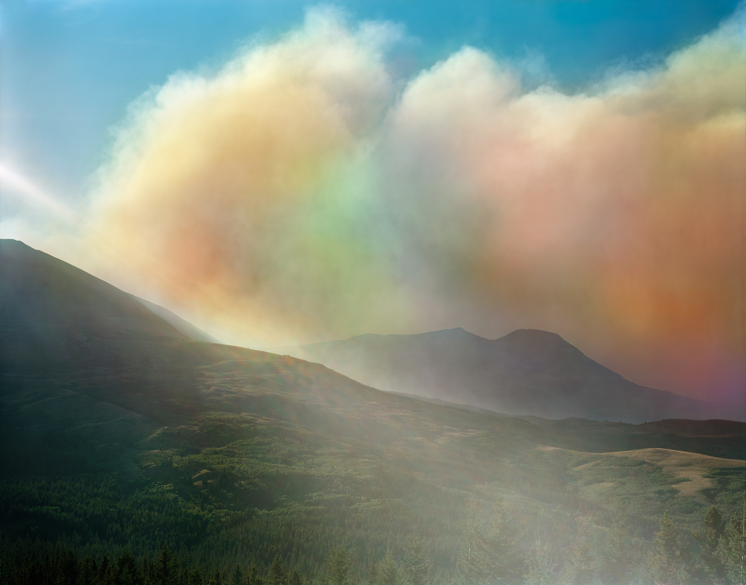 Wildfire in Glacier National Park, St. Mary, Montana, August 2015.