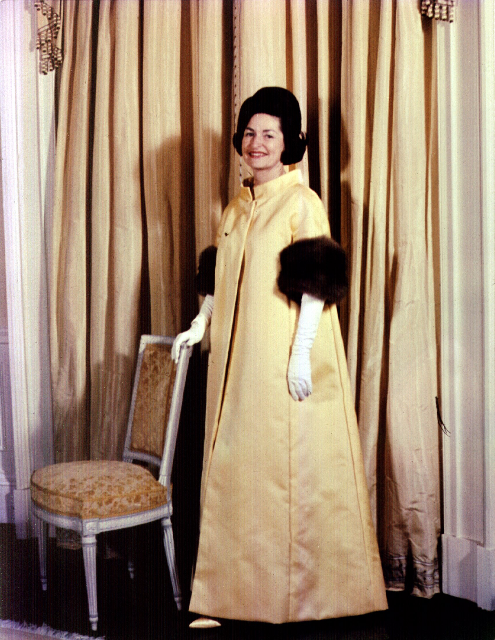 Lady Bird Johnson, John Moore, 1963: Here's how she summed up her philosophy on fashion, according to a 1964 TIME profile:  I like clothes. I like them pretty. But I want them to serve me, not for me to serve them.