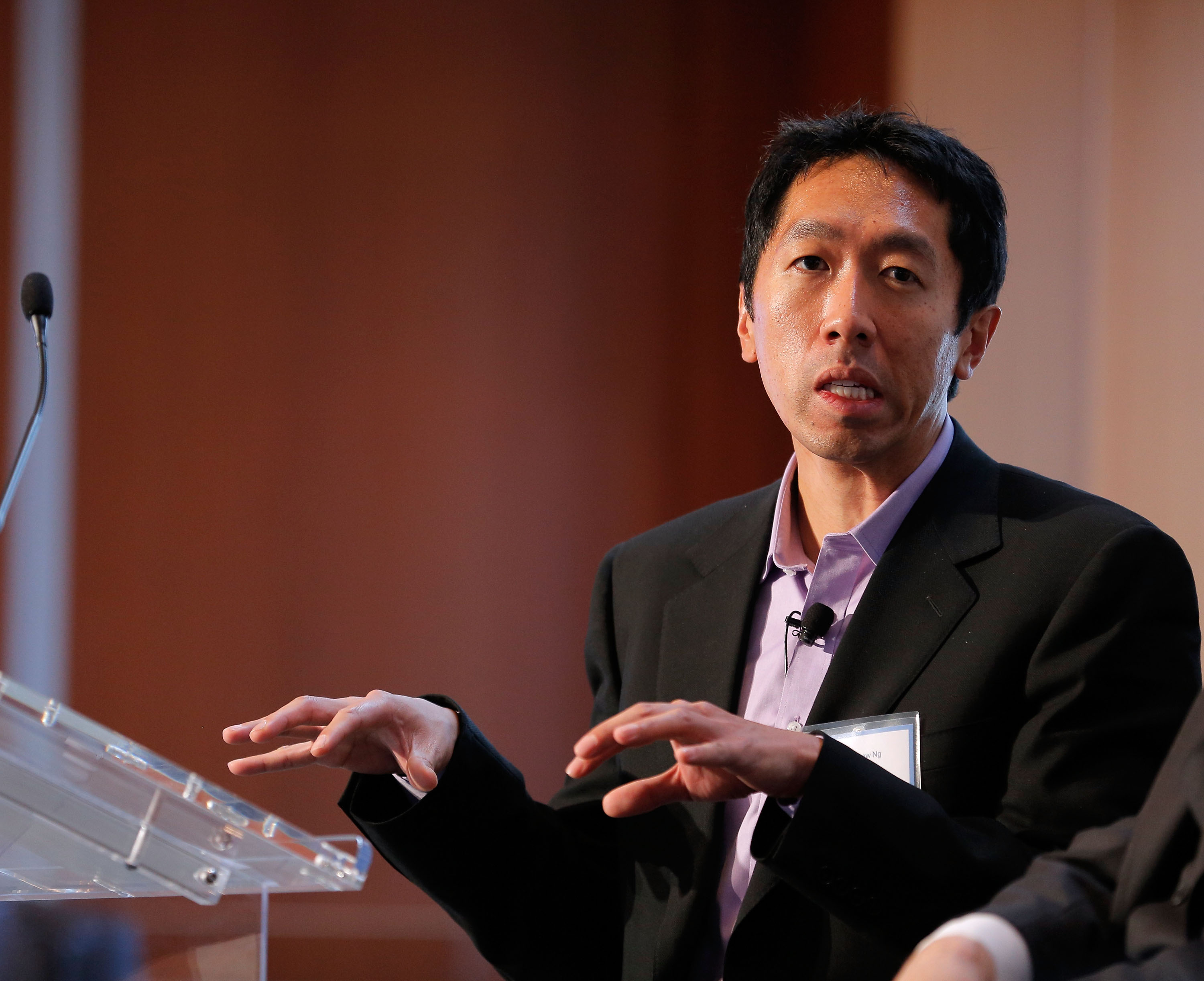 Associate Professor of Computer Science at Stanford University Andrew Ng speaks during the  Changing Landscapes: From the Digital Classroom to the Global Campus  panal during the TIME Summit On Higher Education on October 18, 2012 in New York City.