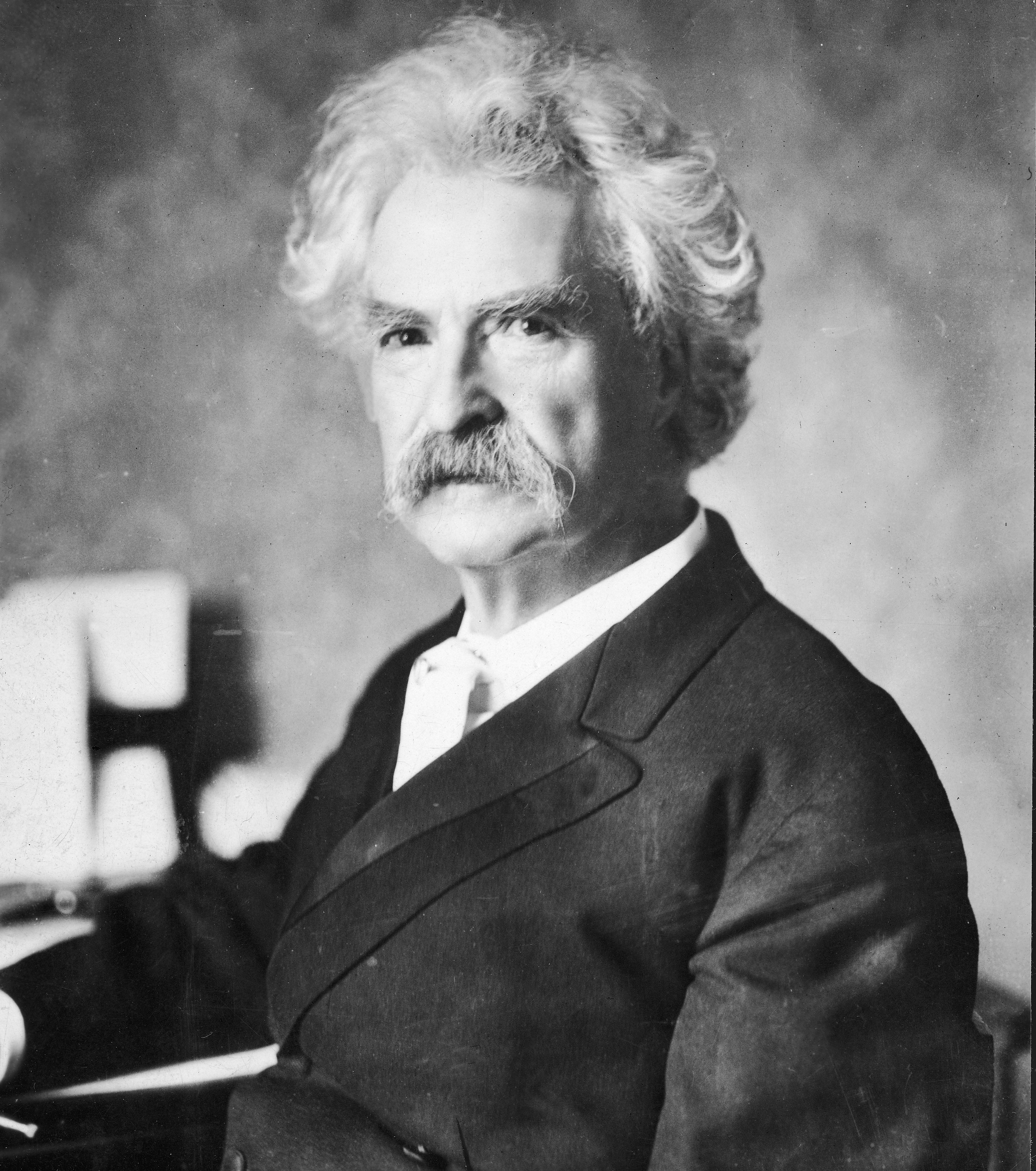 A portrait of American writer Mark Twain (Samuel Clemens, 1835 - 1910), circa 1900. Hulton Archive—Getty Images