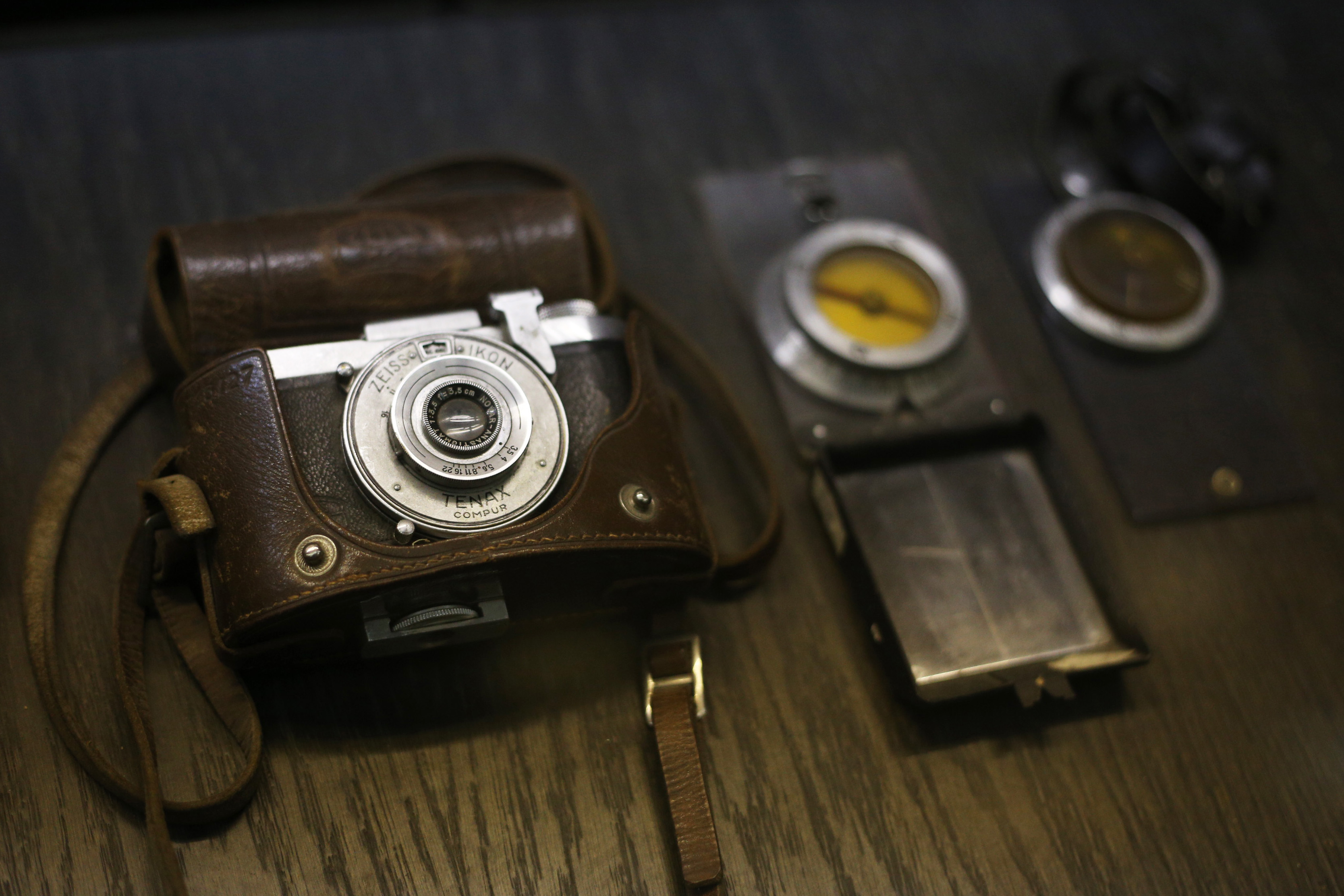 Military equipments and spying materials used by the employees of Committee for State Security (KGB) during the Cold War, are displayed at the Central Armed Forces Museum in northern Moscow, Russia on June 3, 2014.