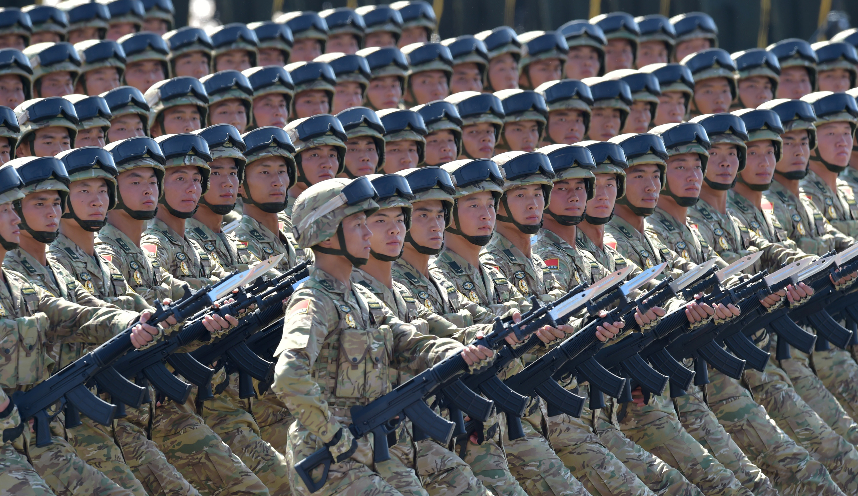 Soldiers attend a military parade in Beijing, China, on Sept. 3, 2015, to mark the 70th anniversary of the military victory against Japan