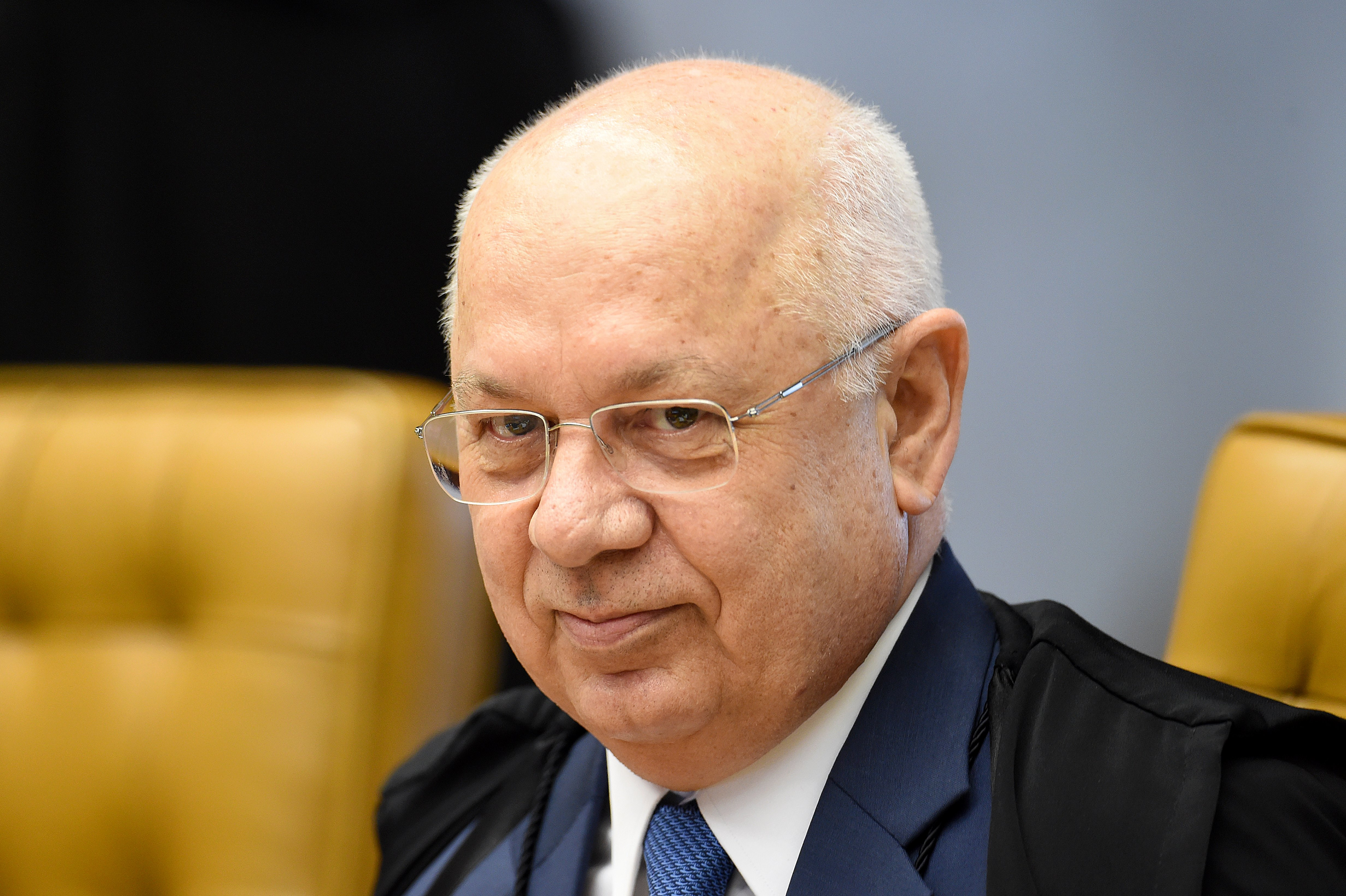 Brazil's Supreme Federal Tribunal (STF) Minister Teori Zavascki during a session to discuss the impeachment of President Dilma Rousseff in Brasilia, on December 16, 2015.