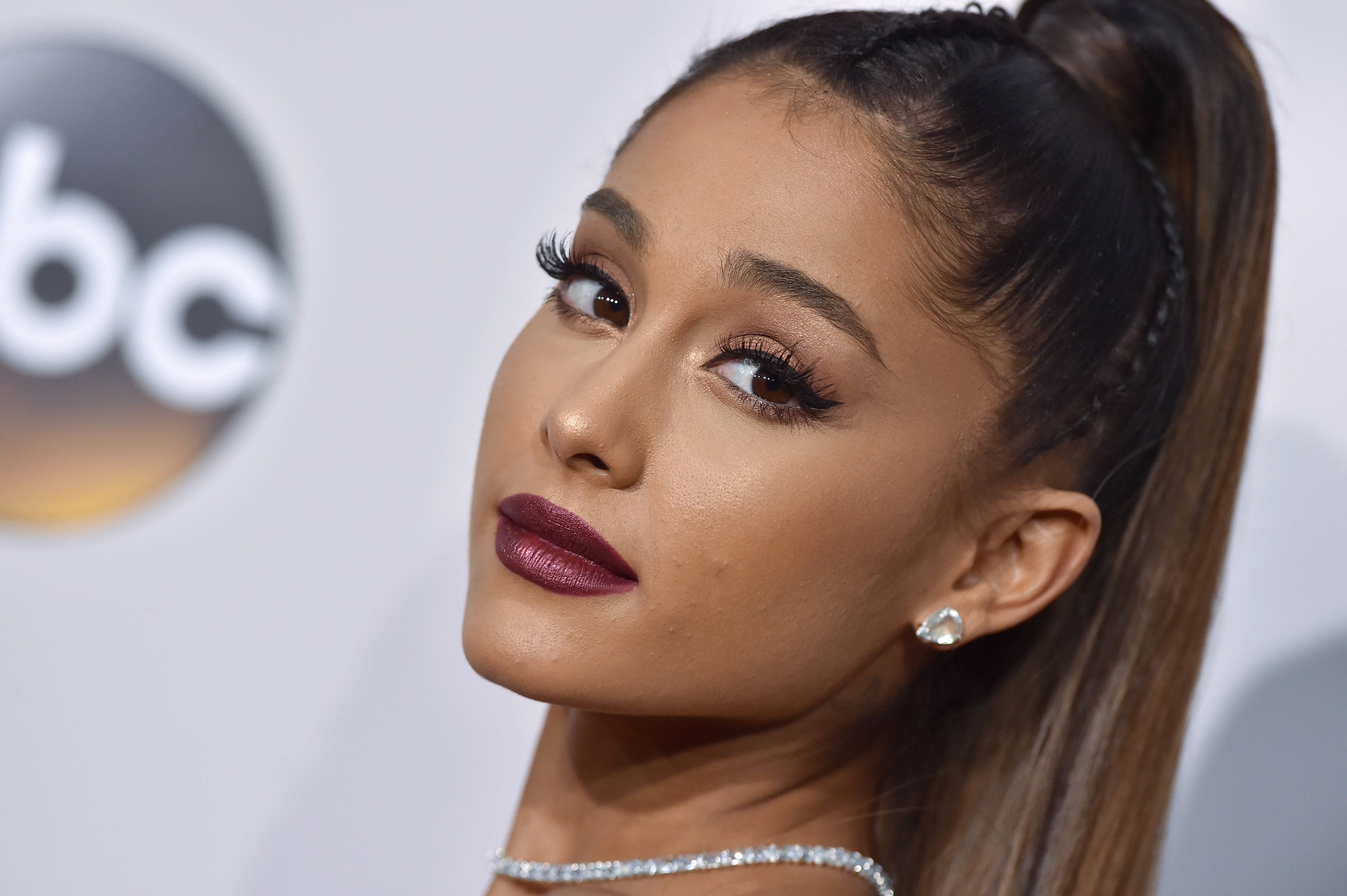 Singer Ariana Grande arrives at the 2016 American Music Awards at Microsoft Theater on Nov. 20, 2016 in Los Angeles, California.