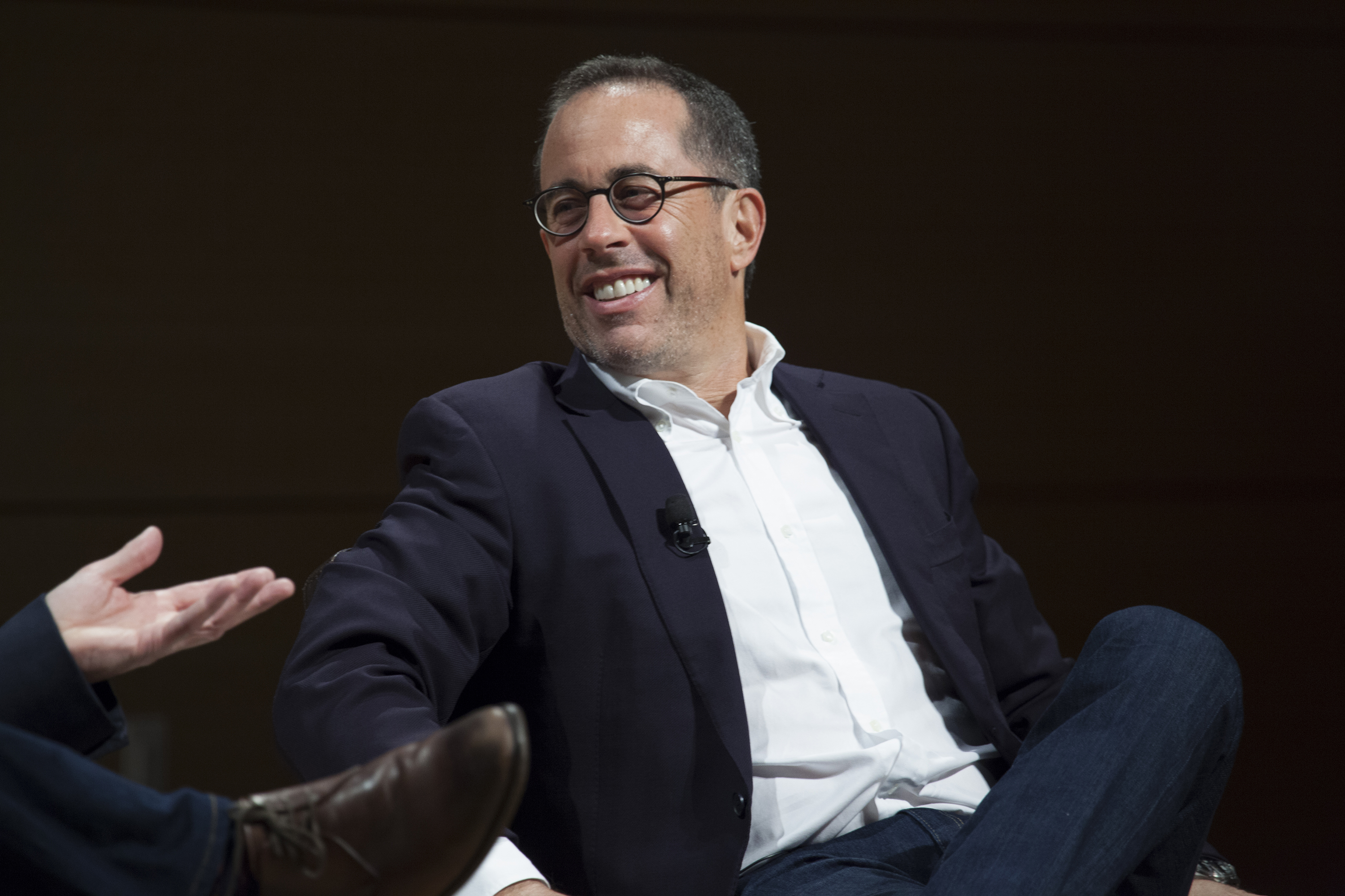 Jerry Seinfeld attends TimesTalks at The New School on December 1, 2016 in New York City.
