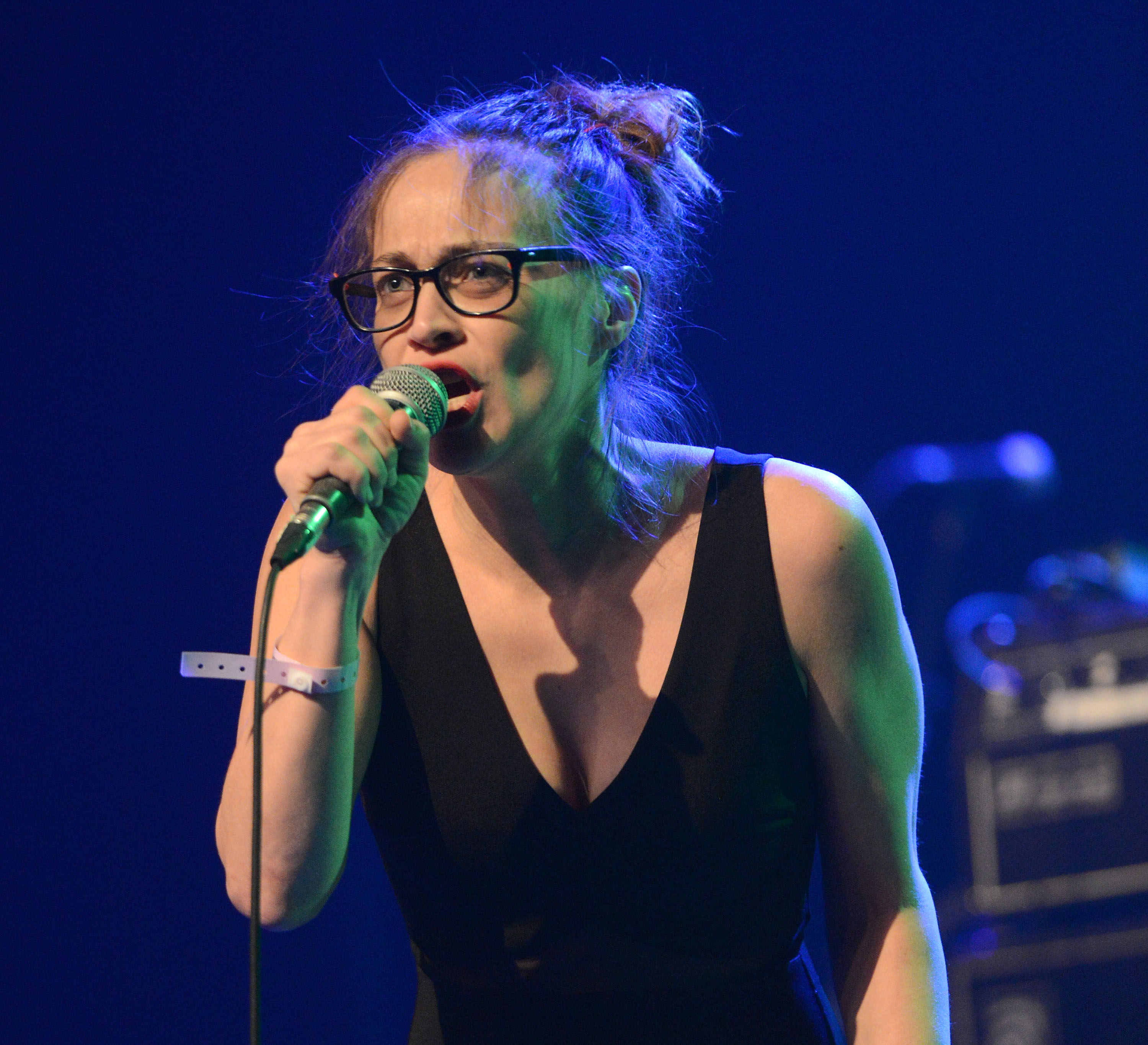 Singer Fiona Apple performs onstage during the  We Rock with Standing Rock  benefit concert on Dec.18, 2016 in Los Angeles, California.