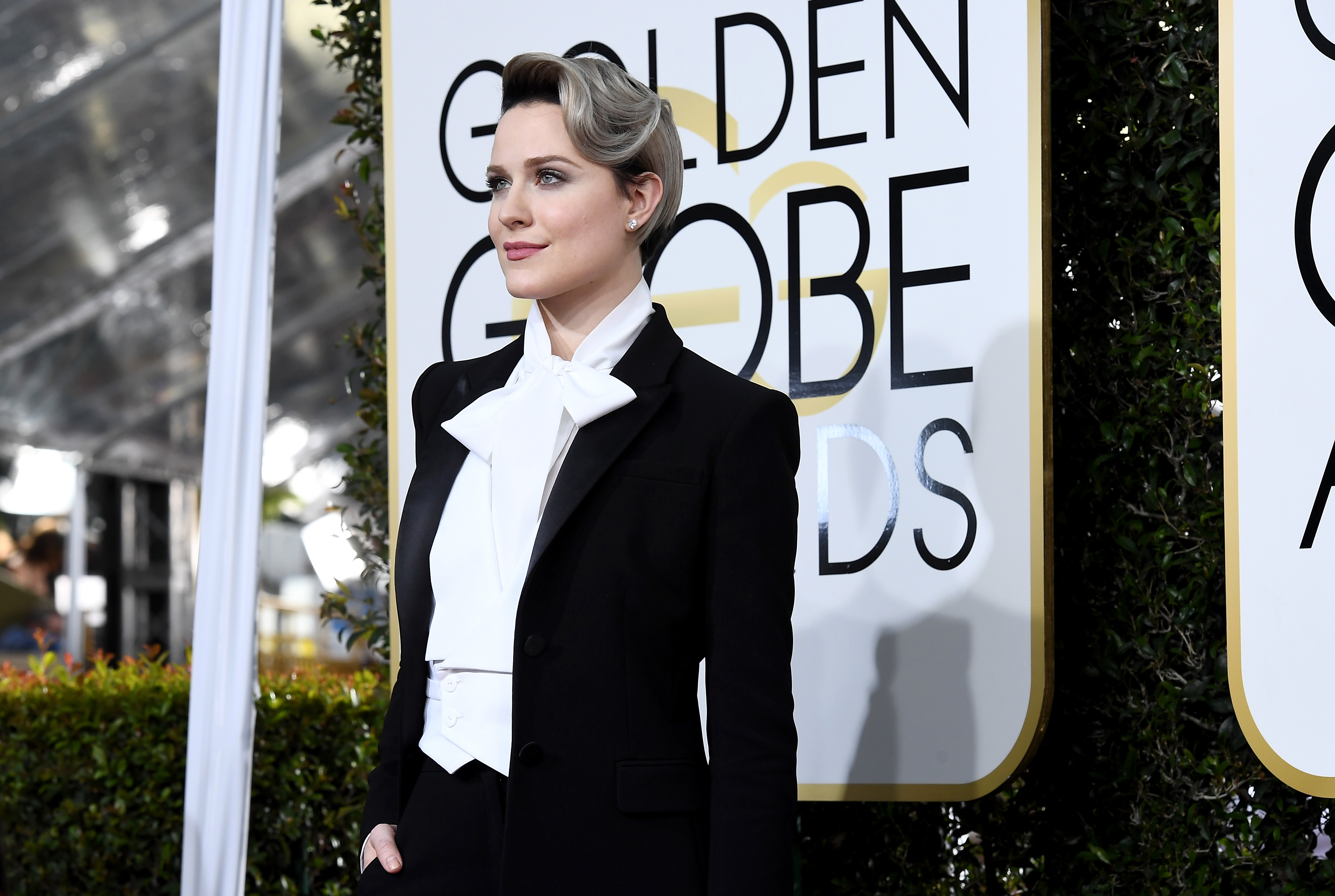 Actress Evan Rachel Wood arrives to the 74th Annual Golden Globe Awards held at the Beverly Hilton Hotel in Beverly Hills, Calif., on Jan. 8, 2017