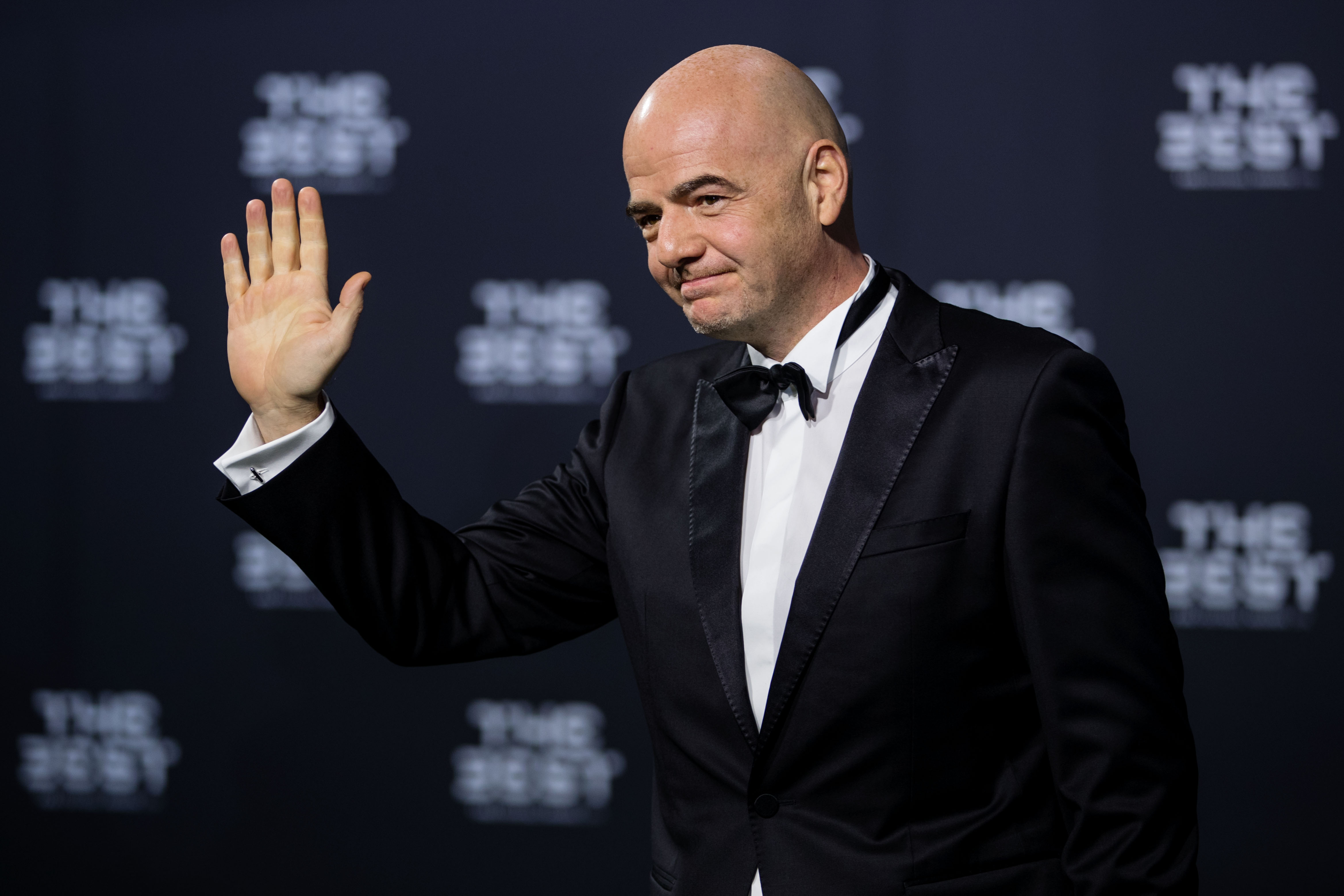 FIFA president Gianni Infantino arrives for The Best FIFA Football Awards 2016 in Zurich, Switzerland, on Jan. 9, 2017.