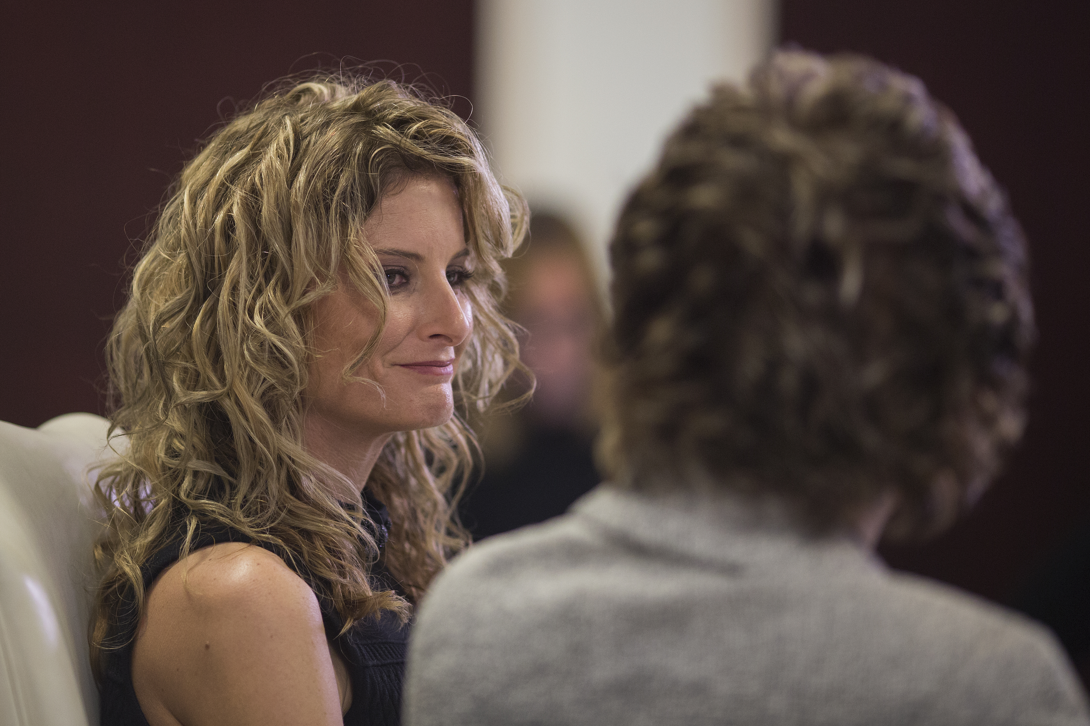 Summer Zervos attends a press conference on Jan. 17, 2017. (David McNew)