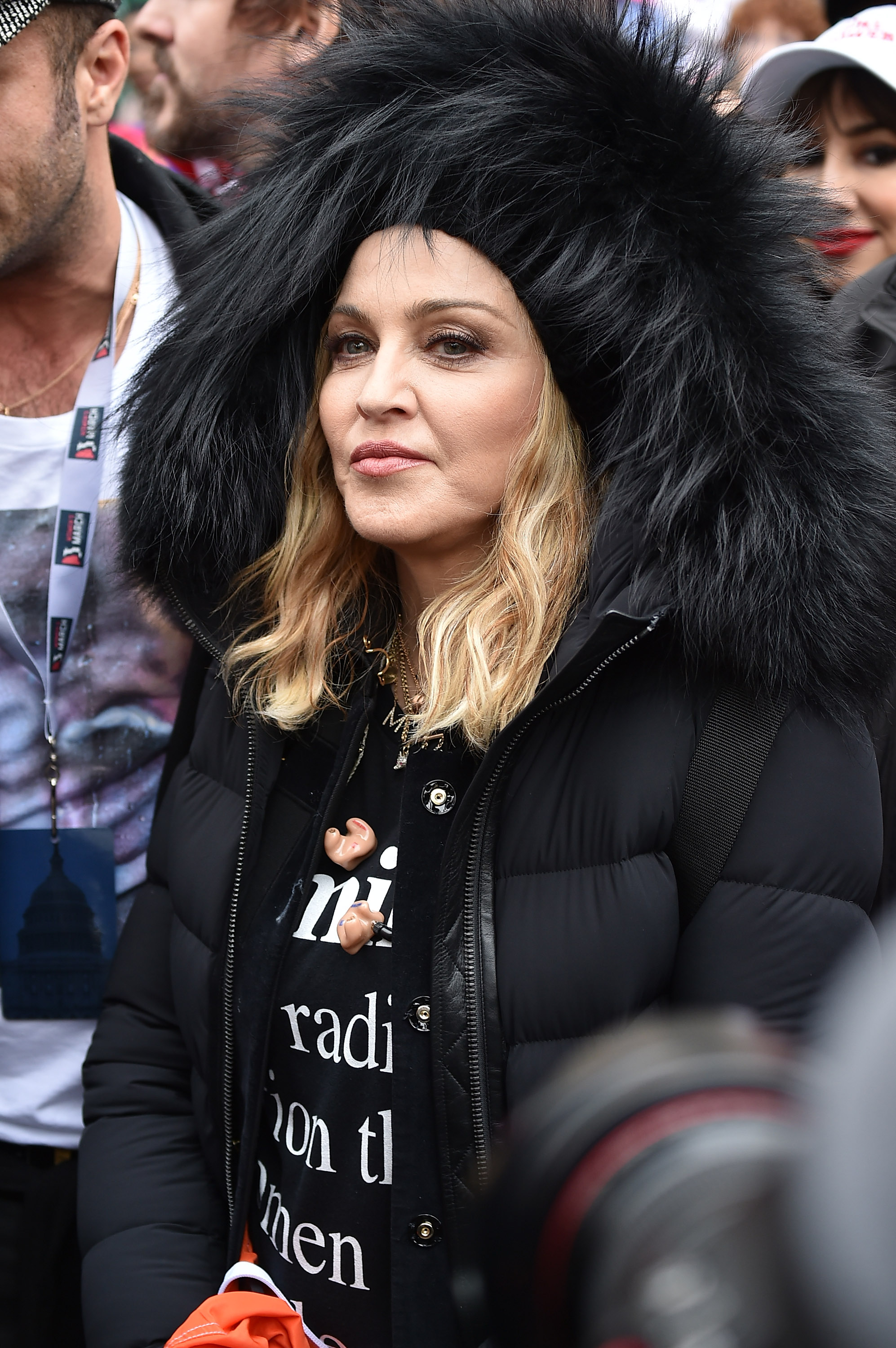 Madonna attends the Women's March on Washington on January 21, 2017 in Washington, DC.  Theo Wargo—Getty Images