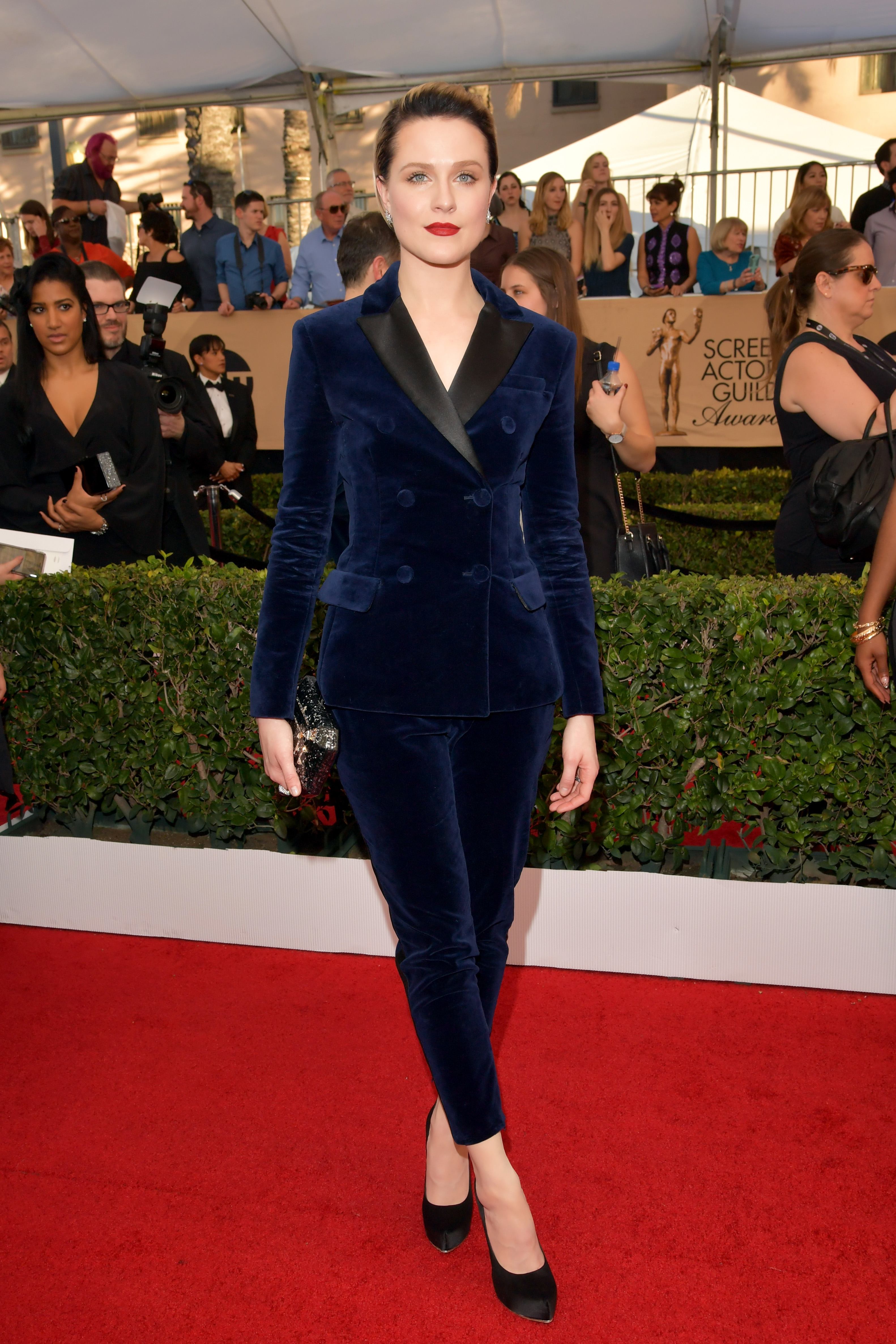 Actor Evan Rachel Wood attends the 23rd Annual Screen Actors Guild Awards on Jan. 29, 2017 in Los Angeles, California.