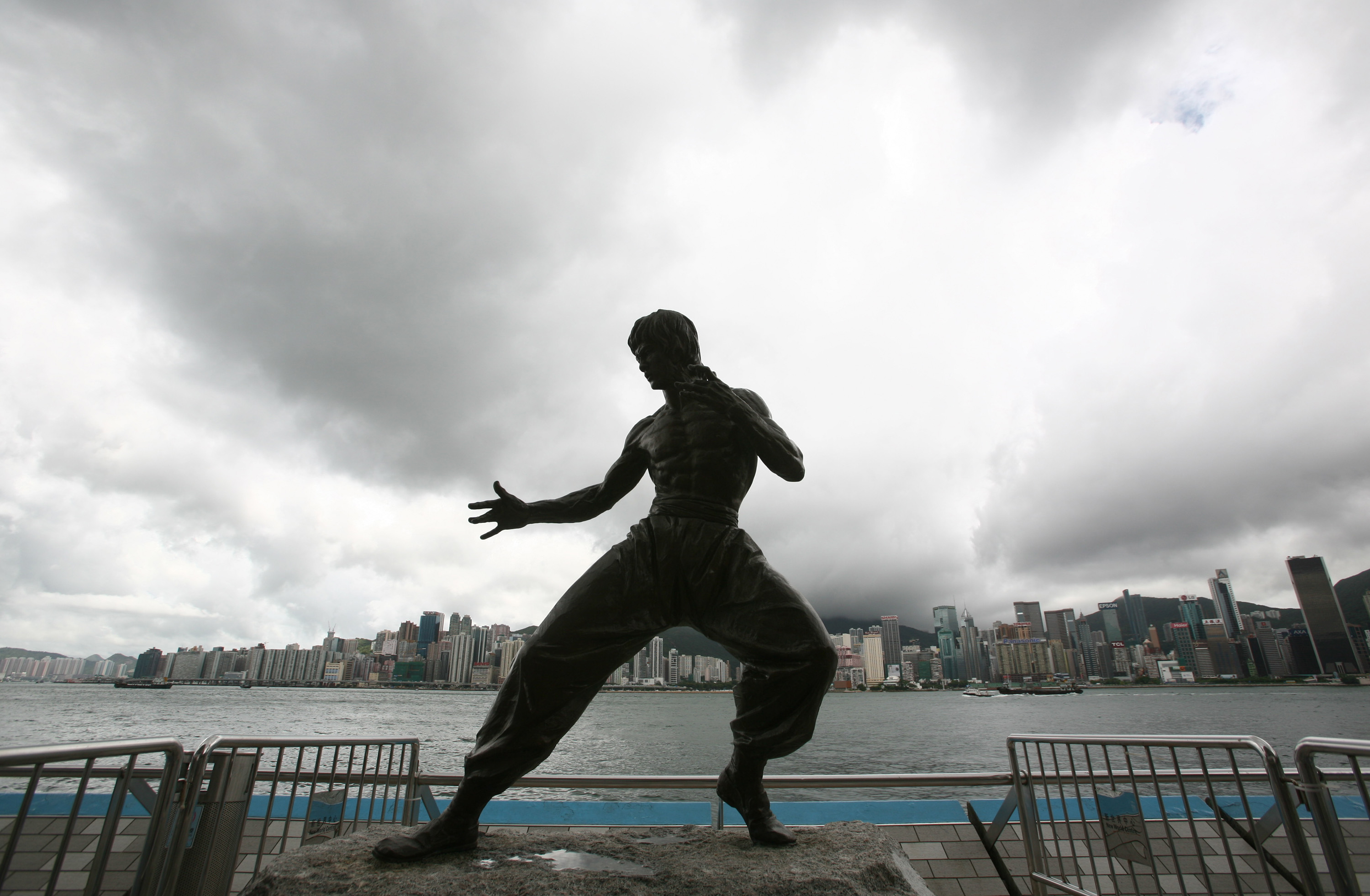 The bronze statue of late martial-arts legend and actor Bruce Lee stands on the Avenue of Stars in Hong Kong, on June 29, 2007.