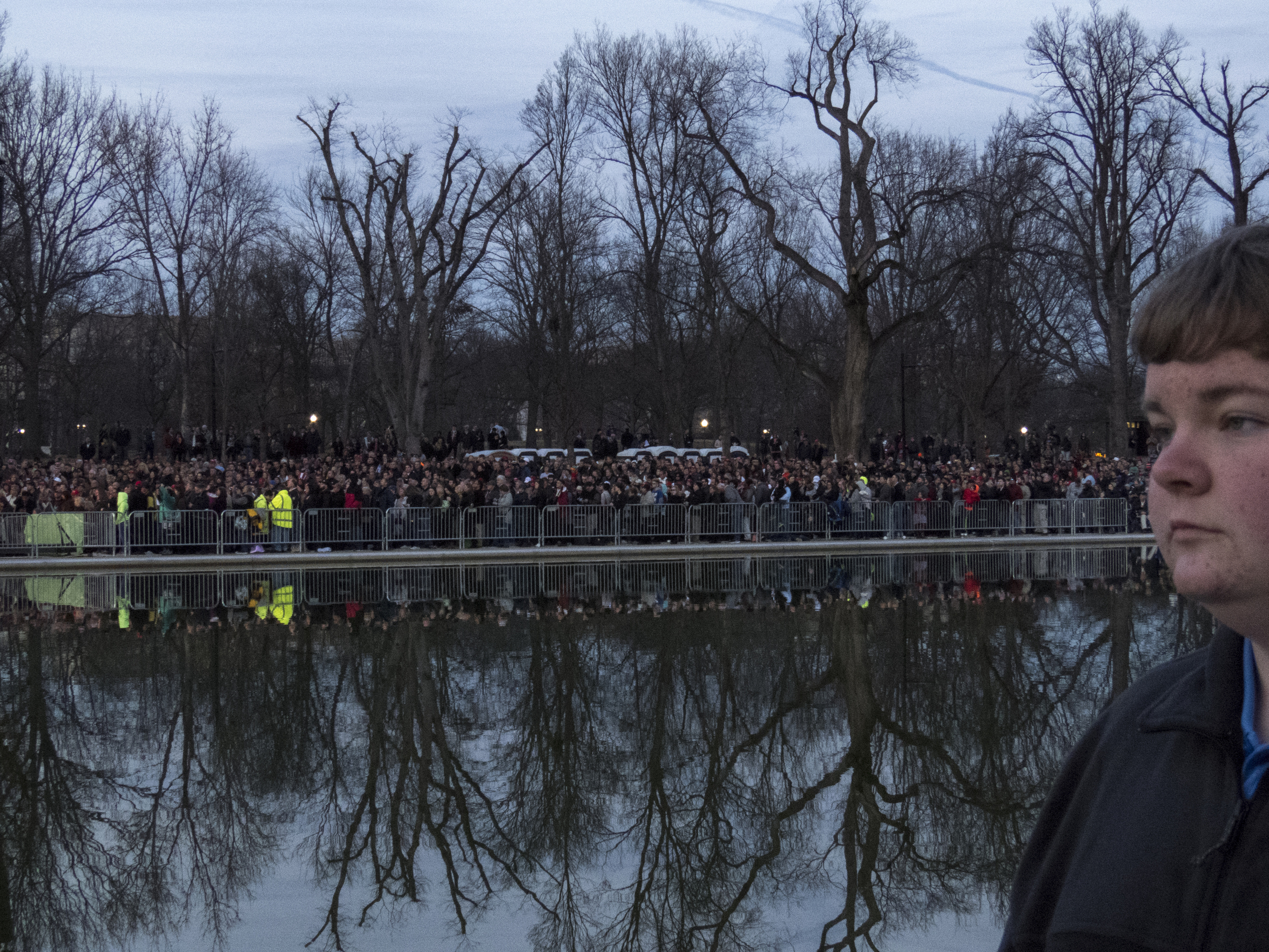 The crowd at the Voices of the People: Make America Great Again Welcome Concert at the Lincoln Memorial in Washington, D.C., on Thursday, Jan. 19, 2017.