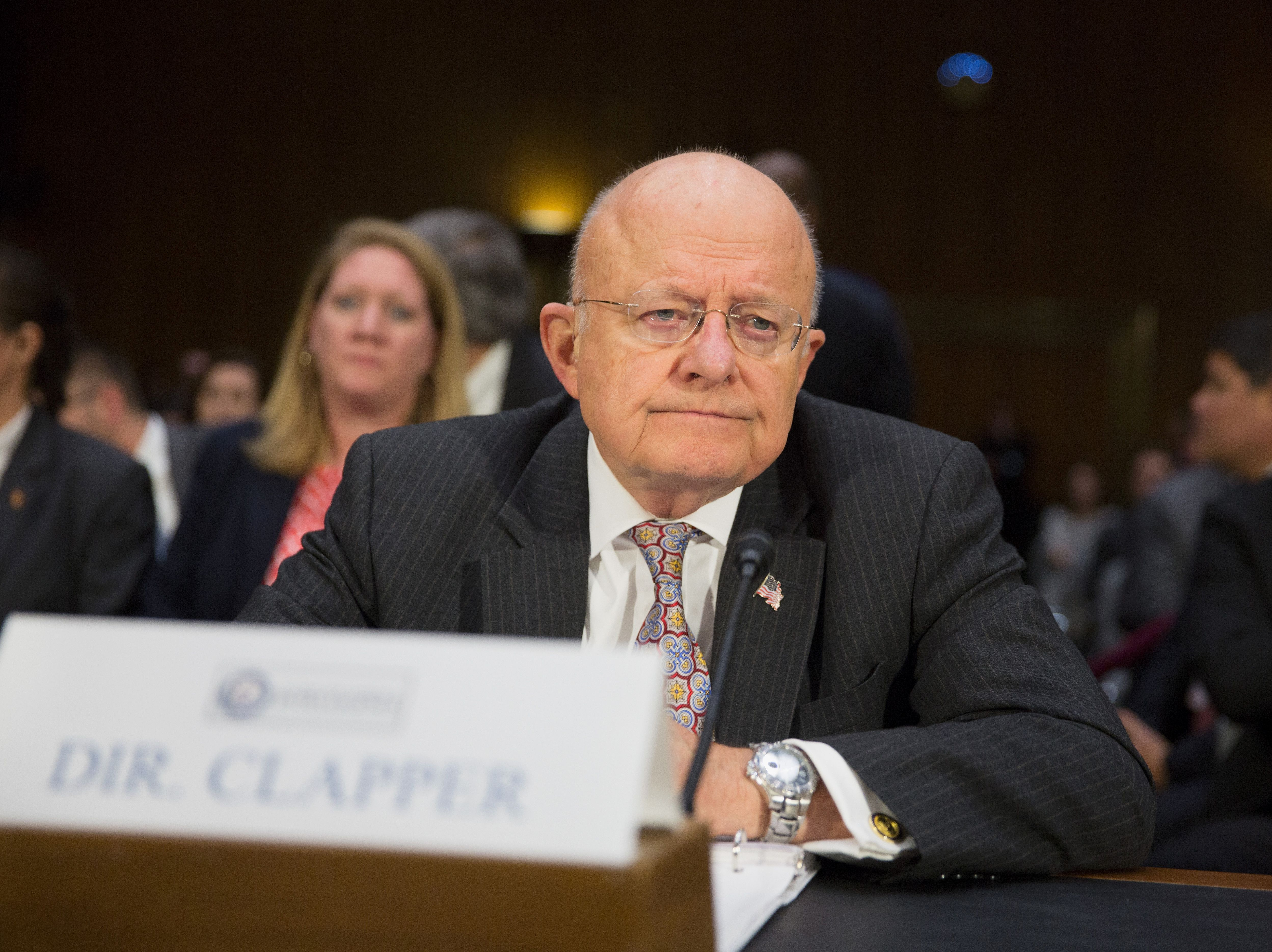 James Clapper, Director of National Intelligence, testifies during a Senate Armed Services Committee hearing on Russian Intelligence Activities on Capitol Hill in Washington, DC Jan. 10, 2017.