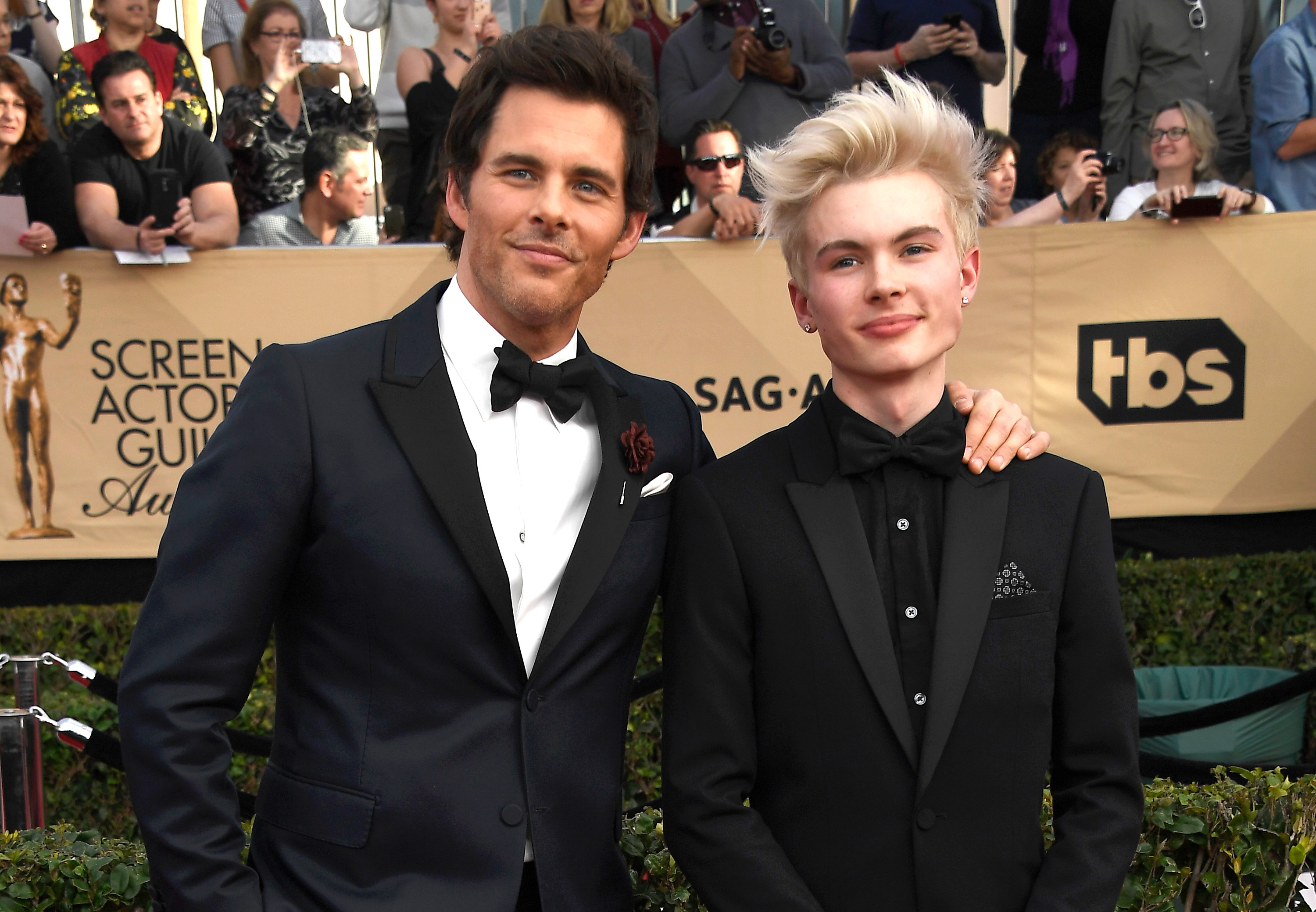 Actor James Marsden (L) and Jack Marsden attend The 23rd Annual Screen Actors Guild Awards at The Shrine Auditorium on January 29, 2017 in Los Angeles, California.