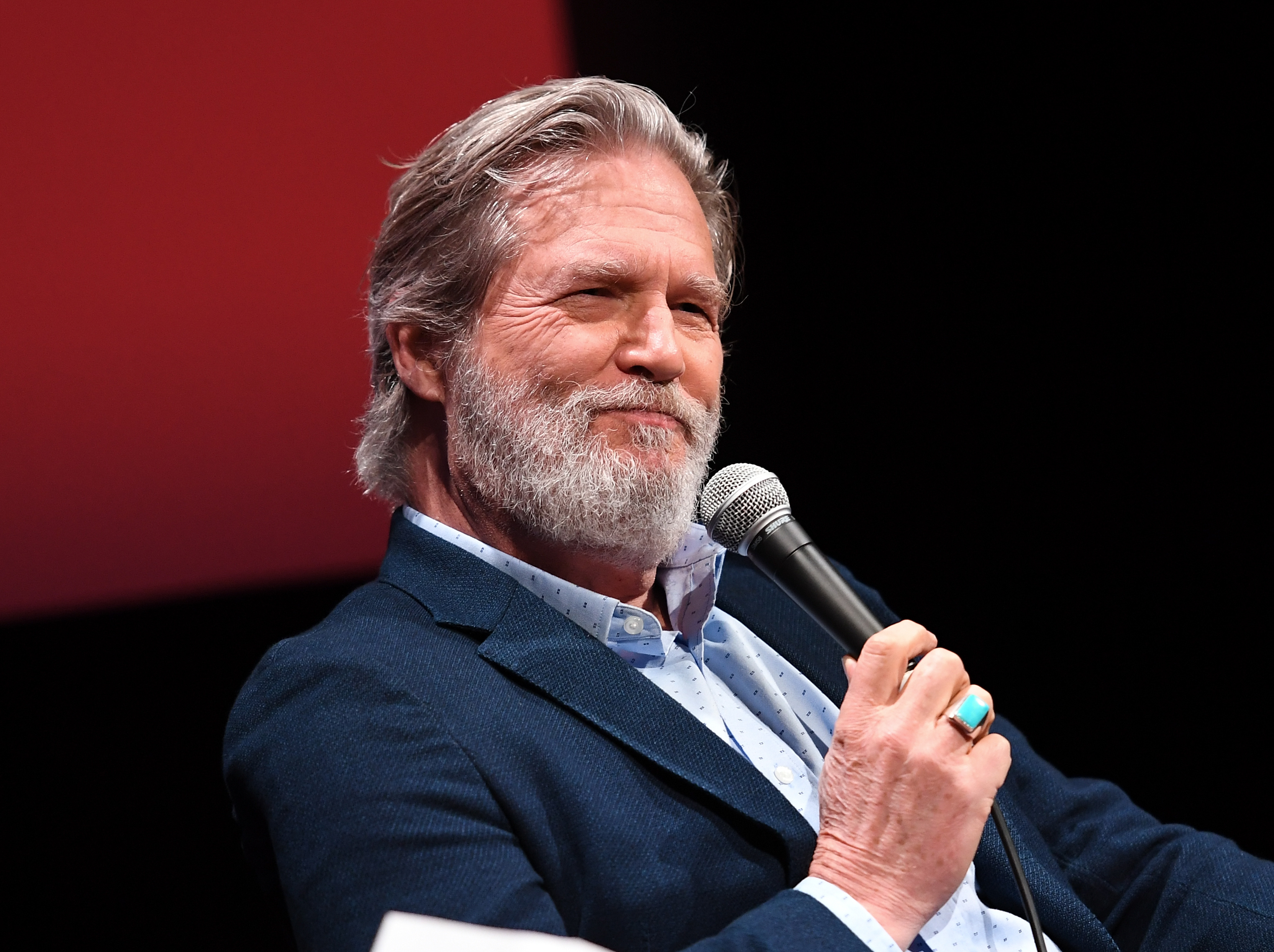 Actor Jeff Bridges speaks on January 4, 2017, during an event in New York.