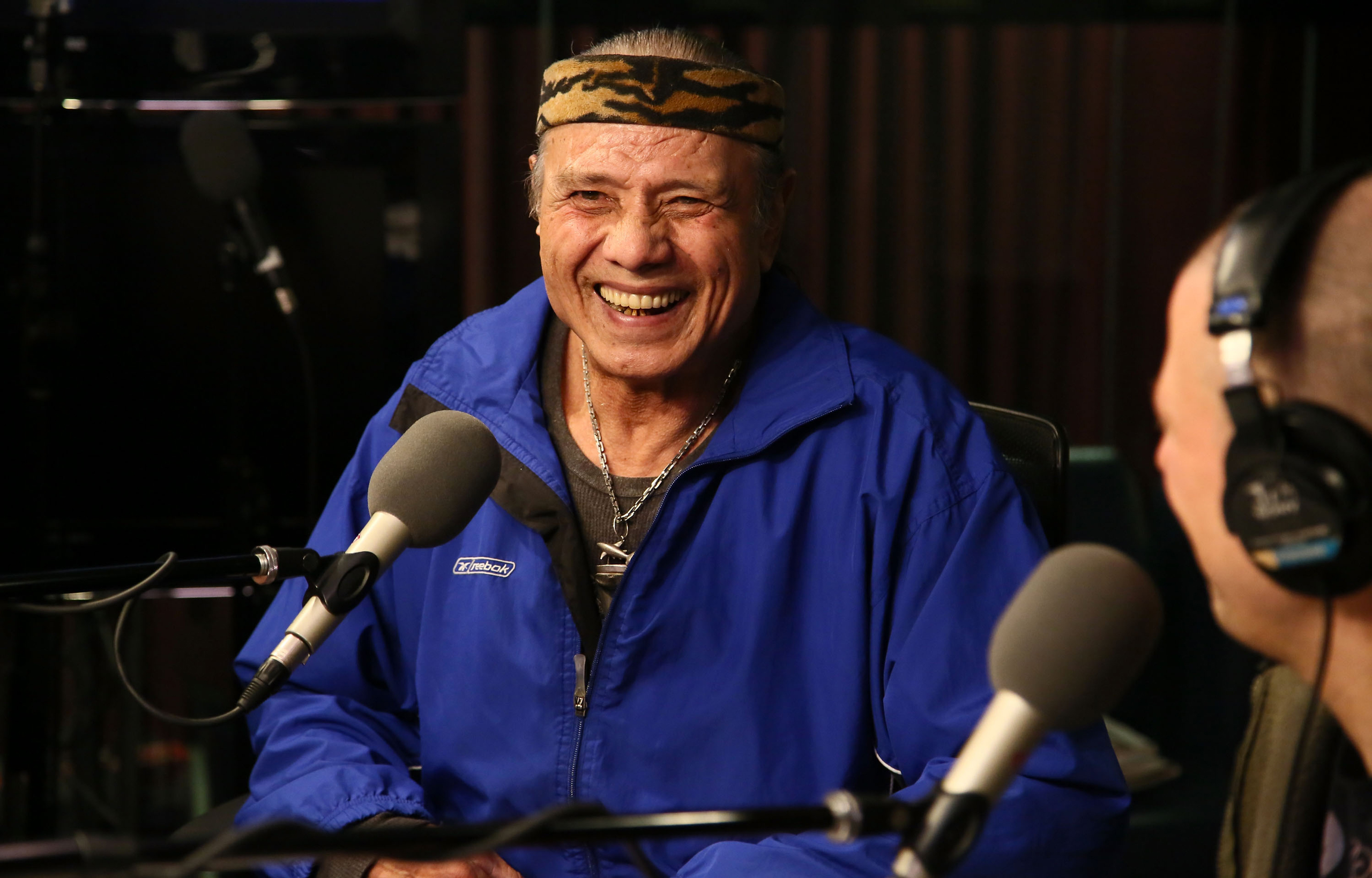 Jimmy  Superfly  Snuka visits  The Opie & Anthony Show  at SiriusXM studios in New York City on Jan. 9, 2013.