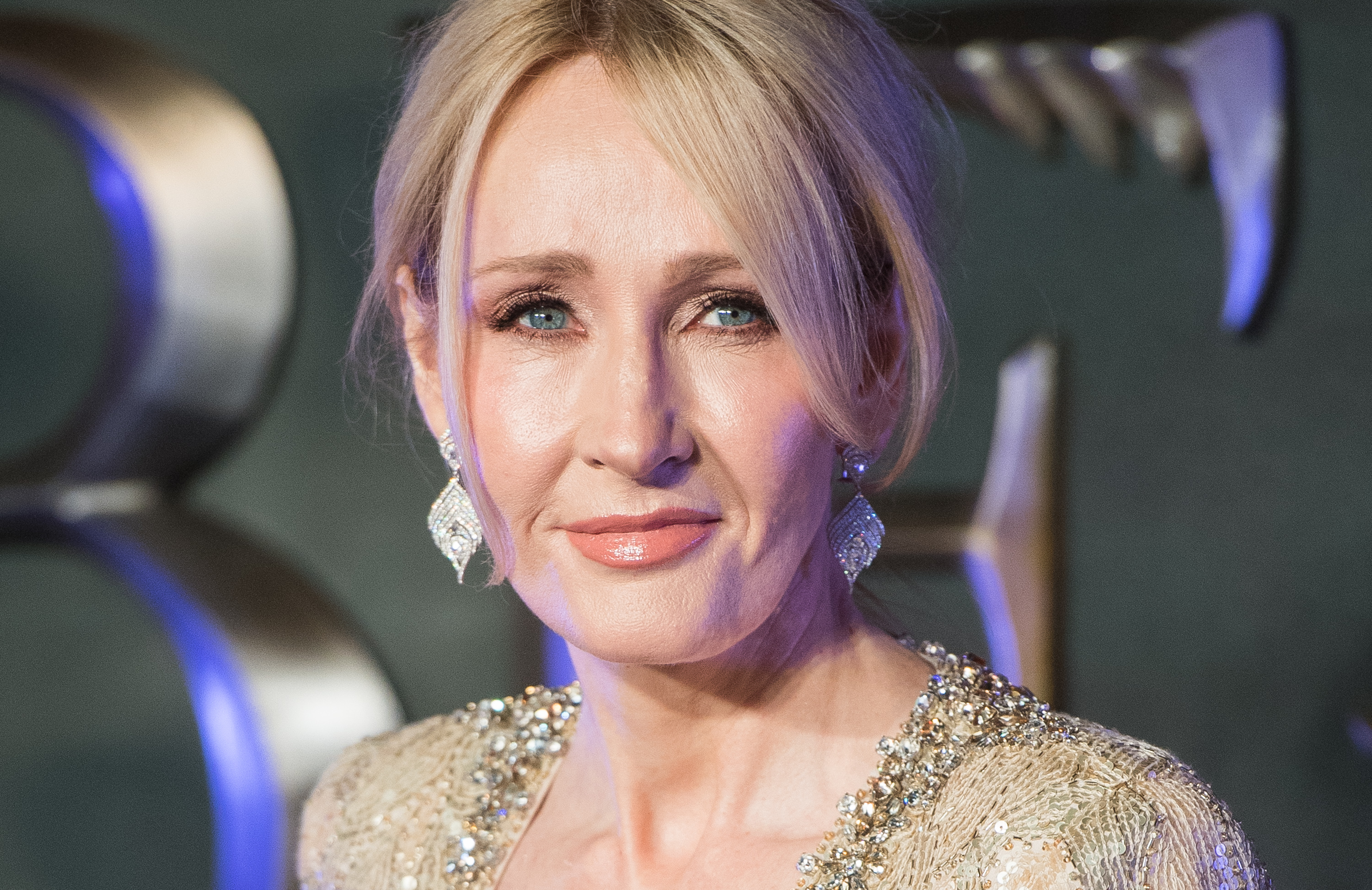 LONDON, ENGLAND - NOVEMBER 15:  J. K. Rowling attends the European premiere of  Fantastic Beasts And Where To Find Them  at Odeon Leicester Square on November 15, 2016 in London, England.  (Photo by Samir Hussein/WireImage)