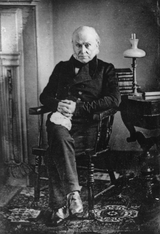 American politician John Quincy Adams (1767 - 1848), circa 1840.