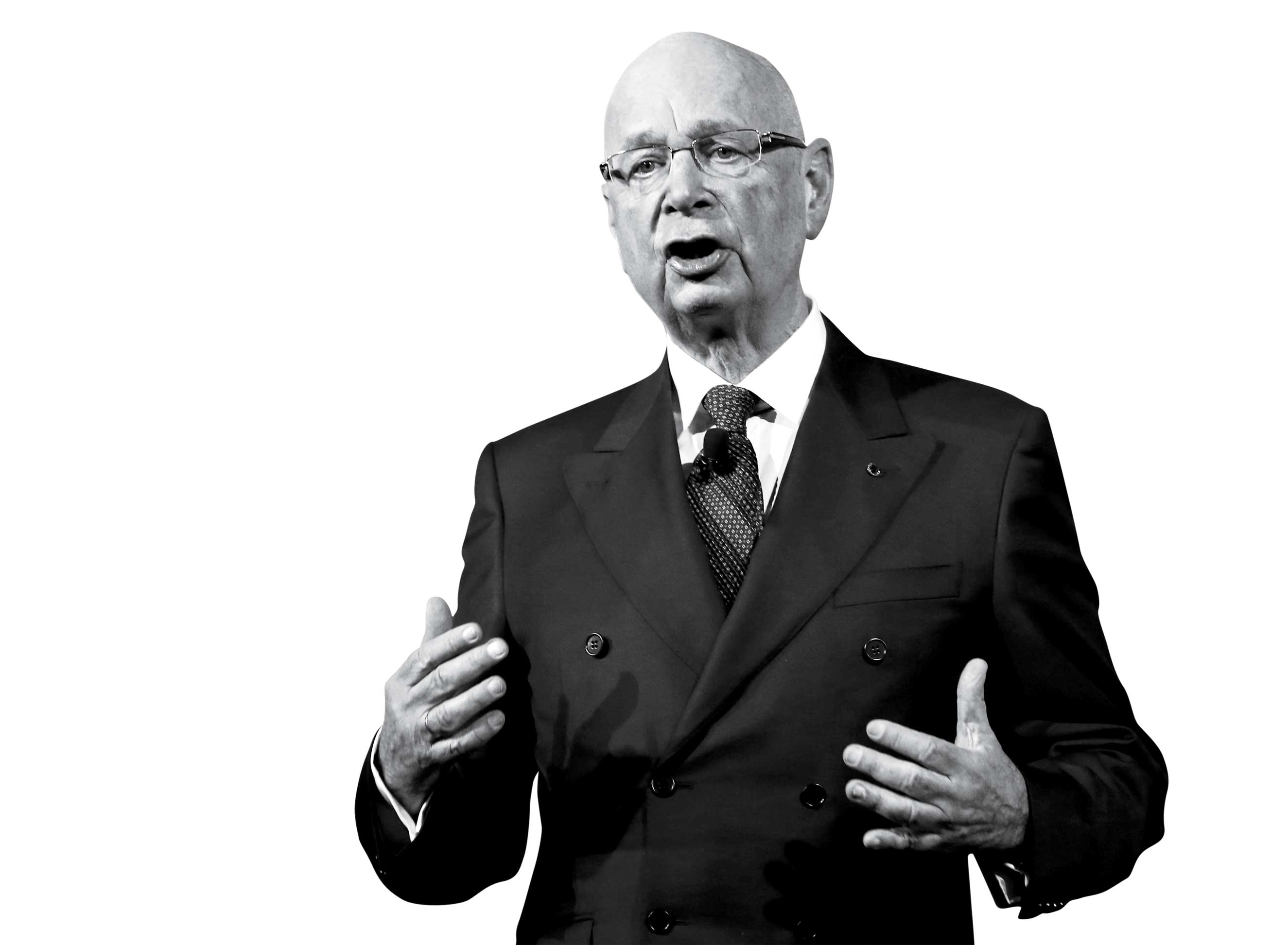 Founder and executive Chairman of the World Economic Forum (WEF) Klaus Schwab speaks ahead of the Crystal Awards ceremony in the Swiss mountain resort of Davos January 20, 2015.