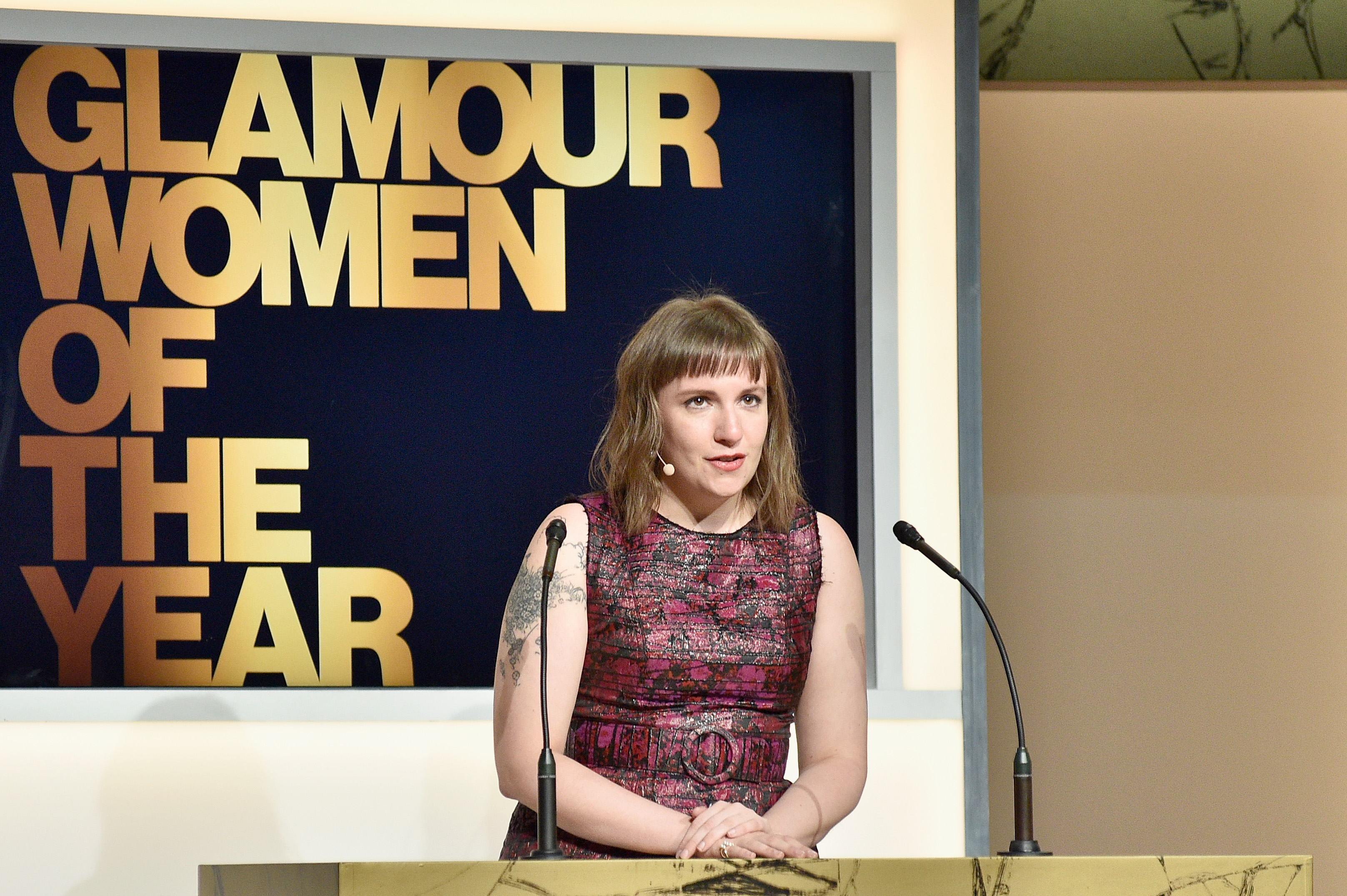 Actress/writer Lena Dunham speaks onstage Glamour Women Of The Year 2016 at NeueHouse Hollywood on Nov. 14, 2016 in Los Angeles.