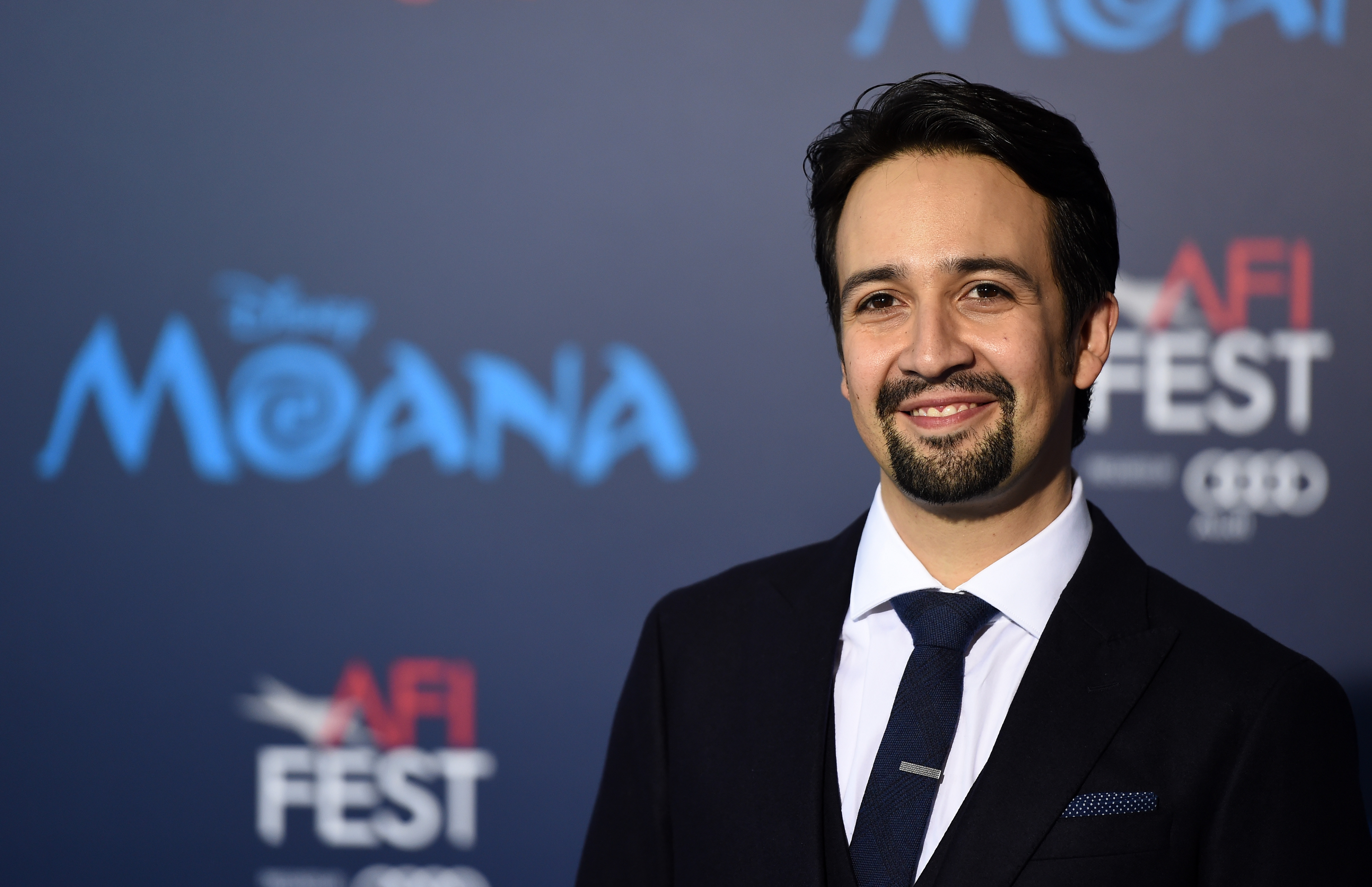 Actor and rapper Lin-Manuel Miranda arrives at the AFI FEST 2016 Presented By Audi premiere of Disney's  Moana  at the El Capitan Theatre on November 14, 2016 in Hollywood, California.