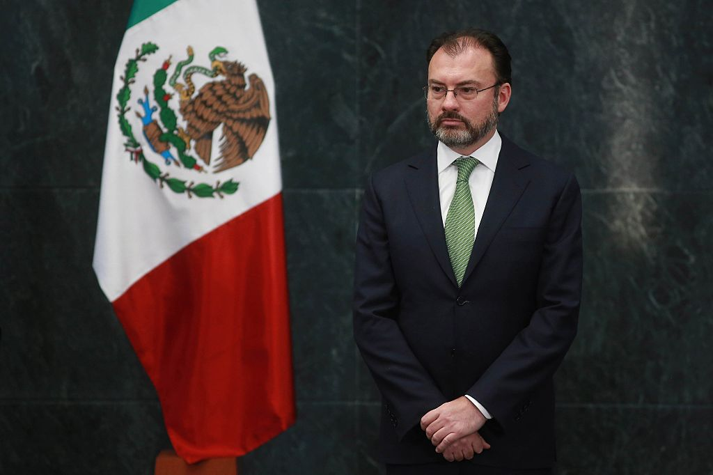 Luis Videgary is seen during a press conference of President of Mexico Enrique Peña Nieto in Mexico City on Jan. 4, 2017