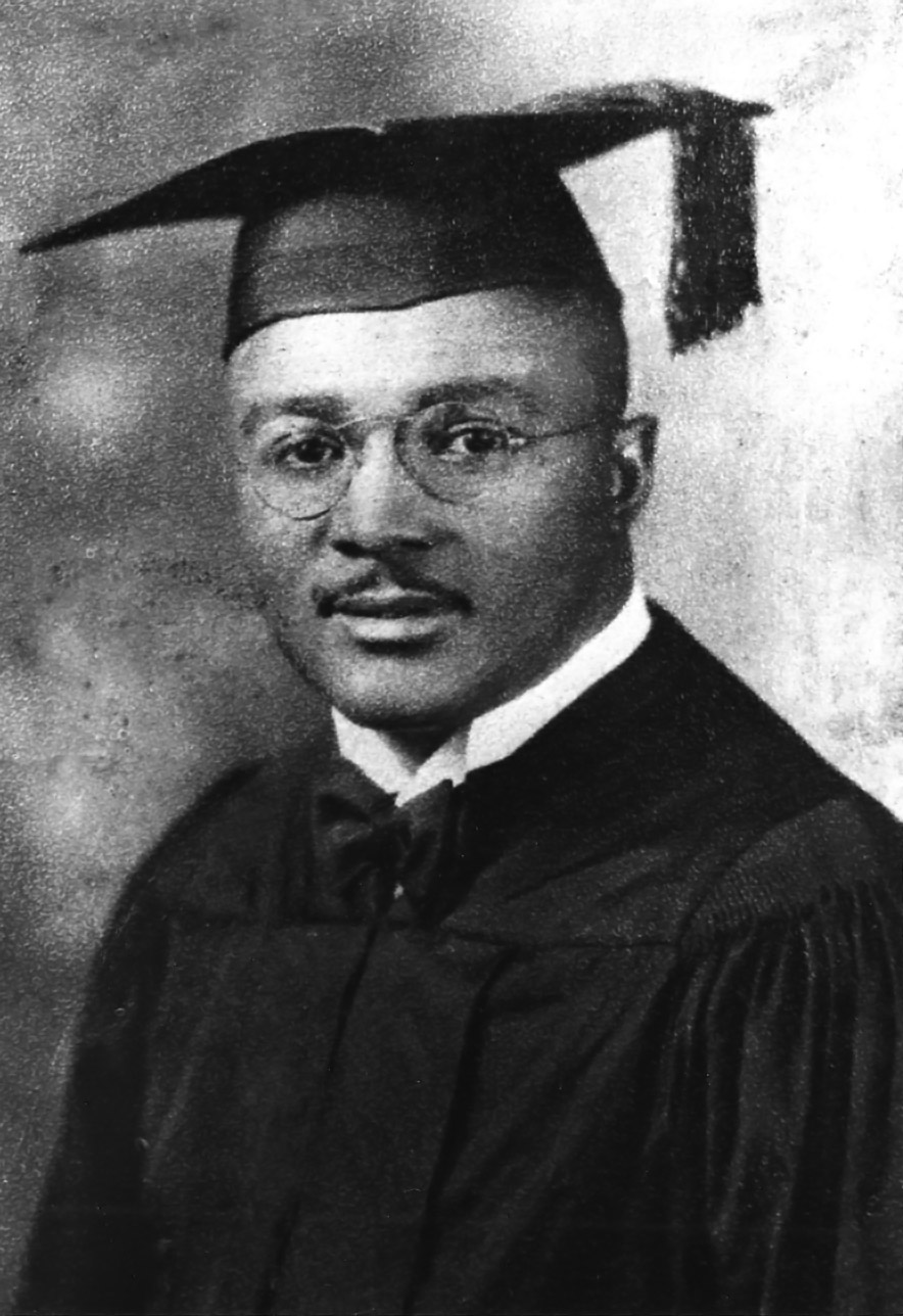 Martin Luther King Sr's graduation photo, taken upon earning his degree from Morehouse College in 1930. By the time he earned his degree, he had three children and was next in line to take the pulpit at Ebenezer Baptist Church.