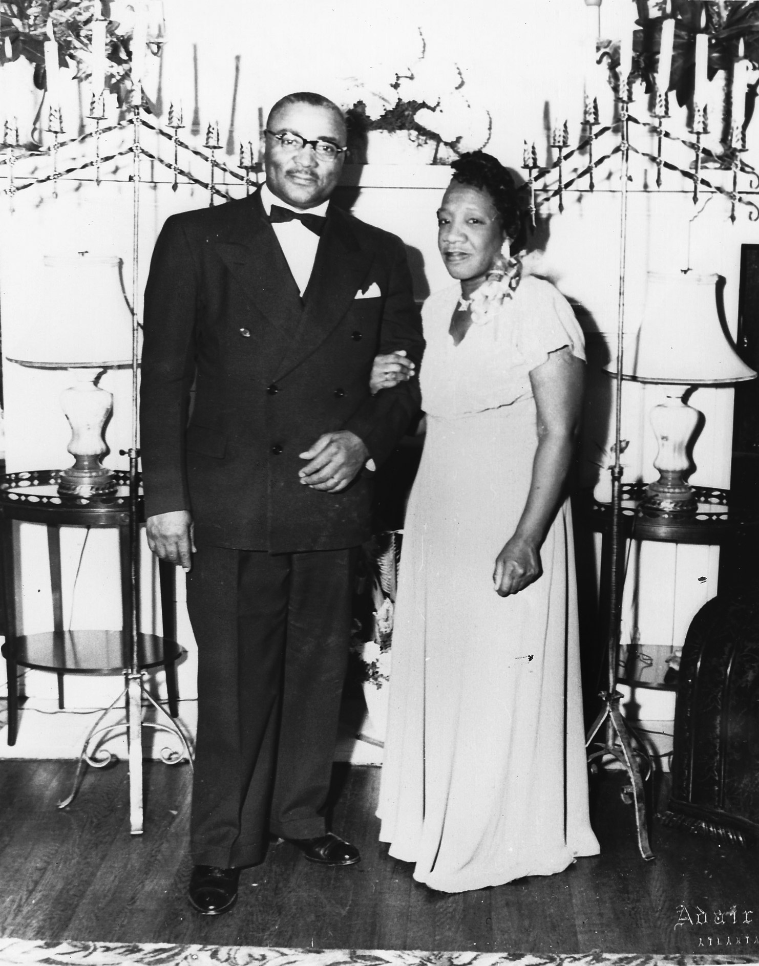 "Martin Luther King Sr. and his wife, Alberta ""Bunch"" Williams King. King Sr. gave her the nickname upon her return from college, shortening ""bunch-of-goodness"" to just ""Bunch."" They were married in 1926."
