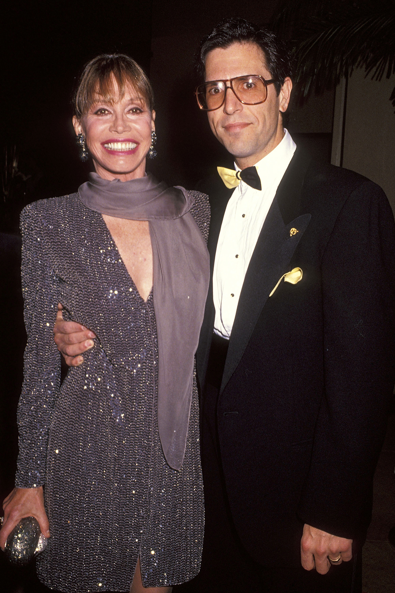 Mary Tyler Moore and husband Dr. Robert Levine, on Oct. 4, 1991  in Beverly Hills, Calif.