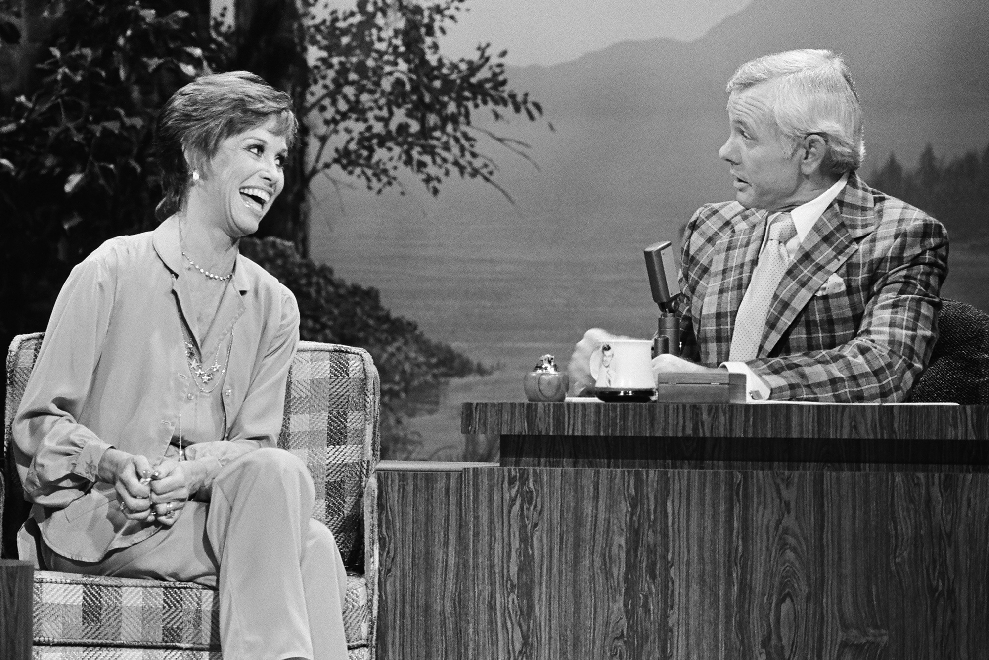 Mary Tyler Moore on The Tonight Show Starring Johnny Carson, on Nov. 3, 1978.