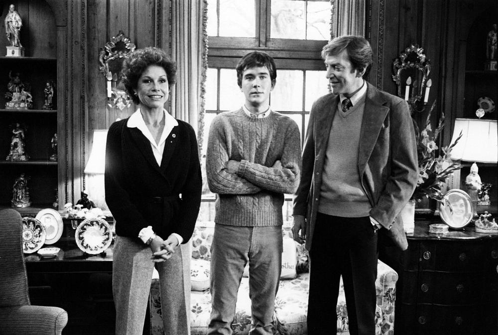 Mary Tyler Moore, with  Timothy Hutton and  Donald Sutherland in Ordinary People, 1980.