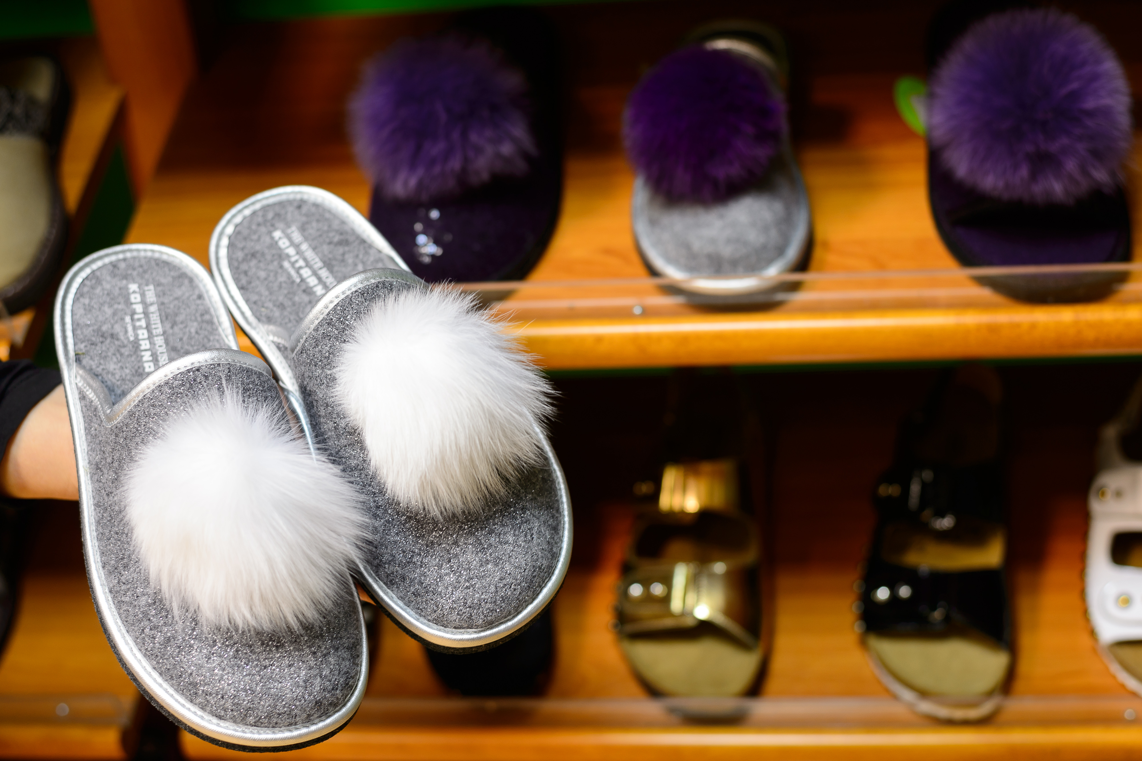 TO GO WITH AFP STORY BY BOJAN KAVCIC Slippers with the lettering  The White House , are pictured on December 20, 2016 in Sevnica, Slovenia, the hometown of future US First Lady Melania Trump. Golden  Melania  cakes,  White House  slippers, guided tours tracing her rise from pony-tailed schoolgirl to international model -- tiny Slovenia has tapped into big marketing opportunities thanks to its most famous daughter, the future US First Lady Melania Trump. / AFP / Jure MAKOVEC (Photo credit should read JURE MAKOVEC/AFP/Getty Images)