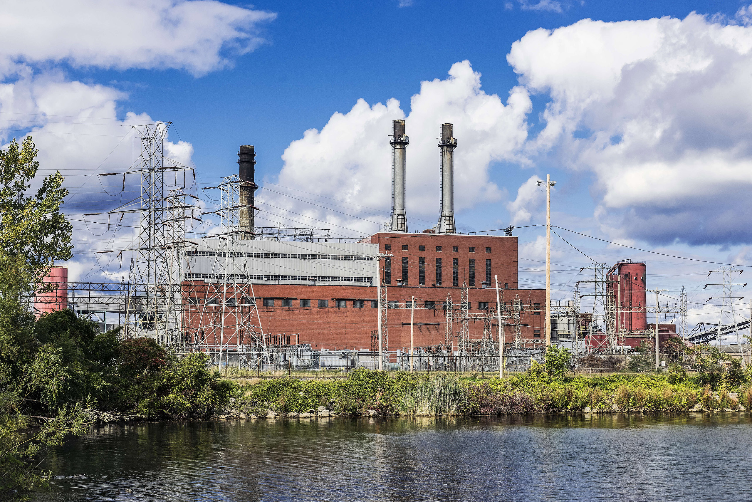 A NRG owned coal fired energy facility that plans to convert to a natural gas facility in Dunkirk, NY.