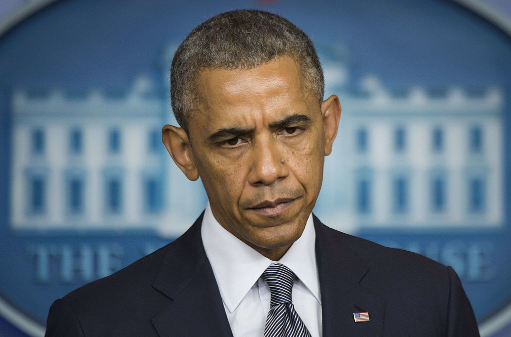 President Barack Obama makes a statement on Ukraine from the Brady Press Briefing Room at the White House in Washington, DC, on July 18, 2014.