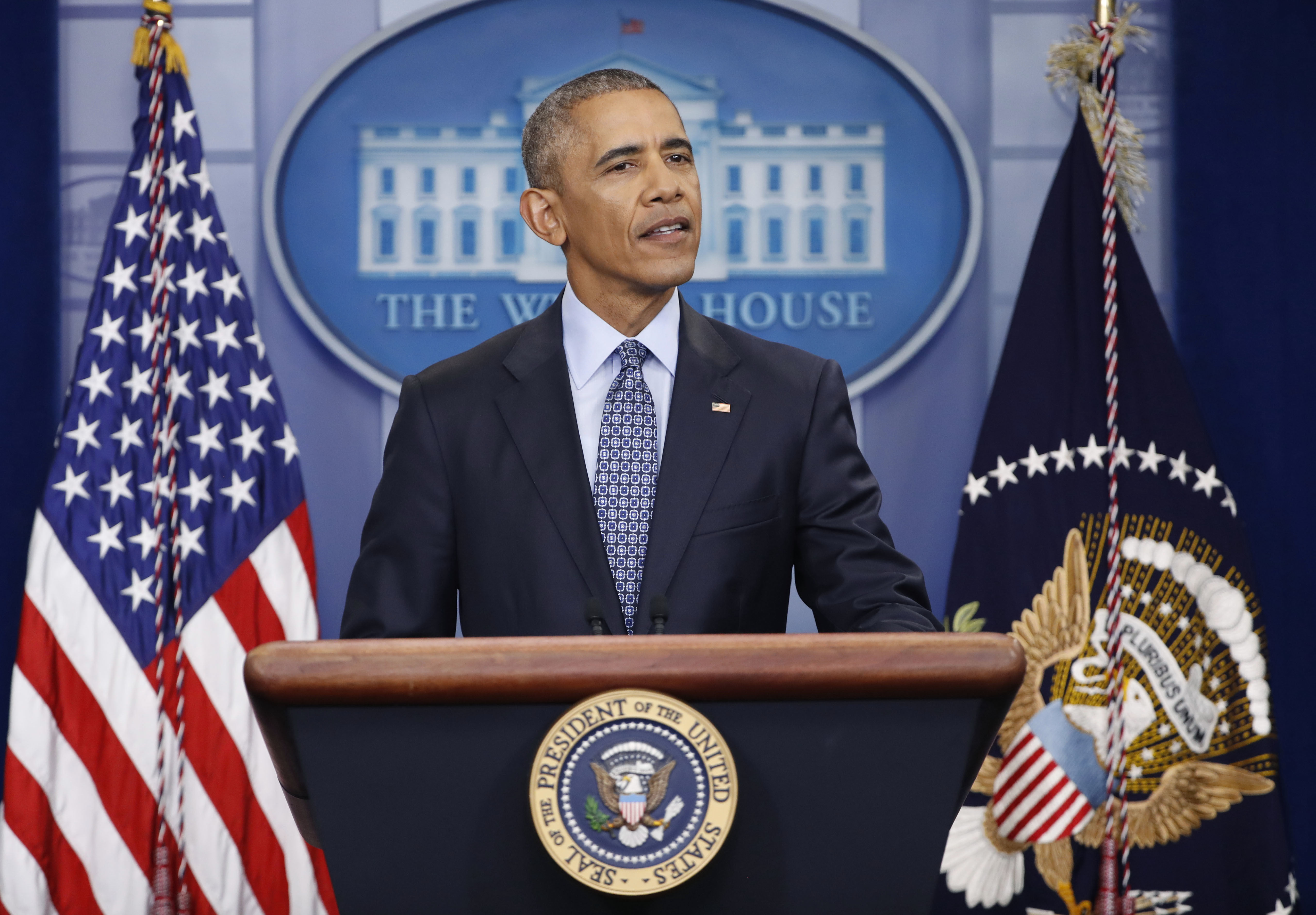 President Obama speaks during his final presidential news conference, on Jan. 18, 2017.