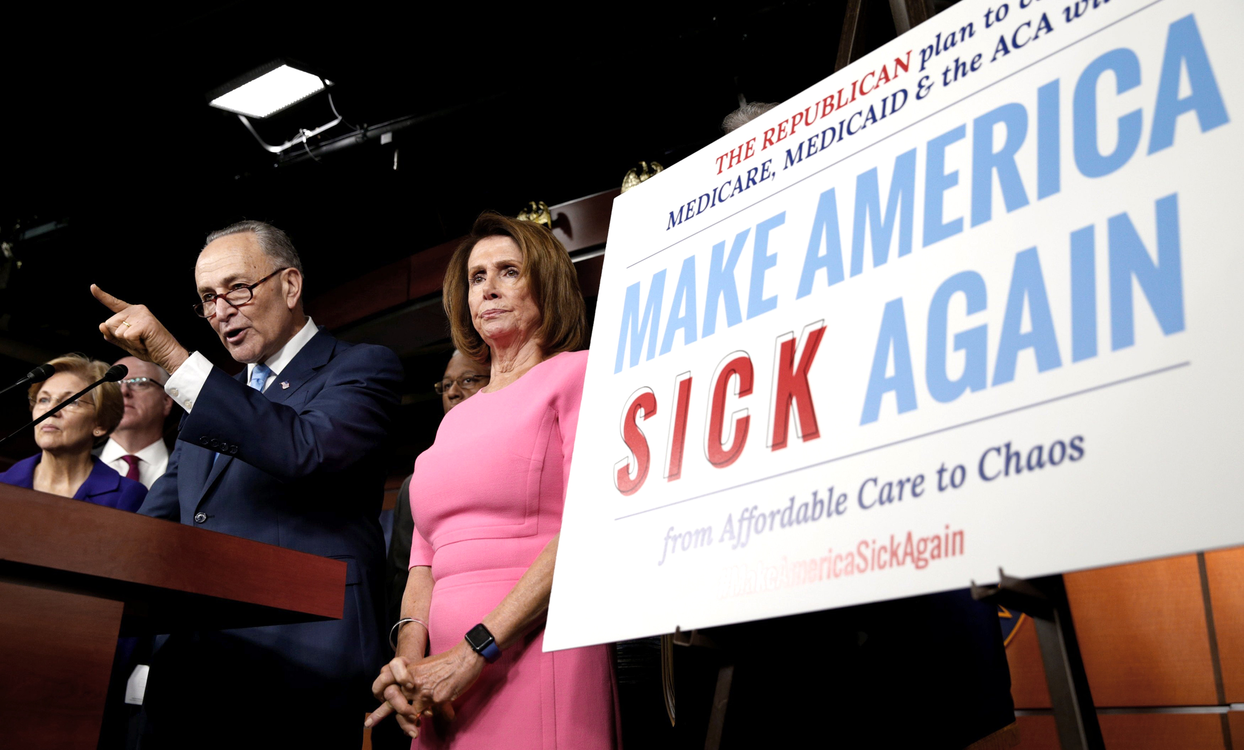 Democratic leaders Schumer and Pelosi warn on Jan. 4 that the GOP will regret repealing Obamacare