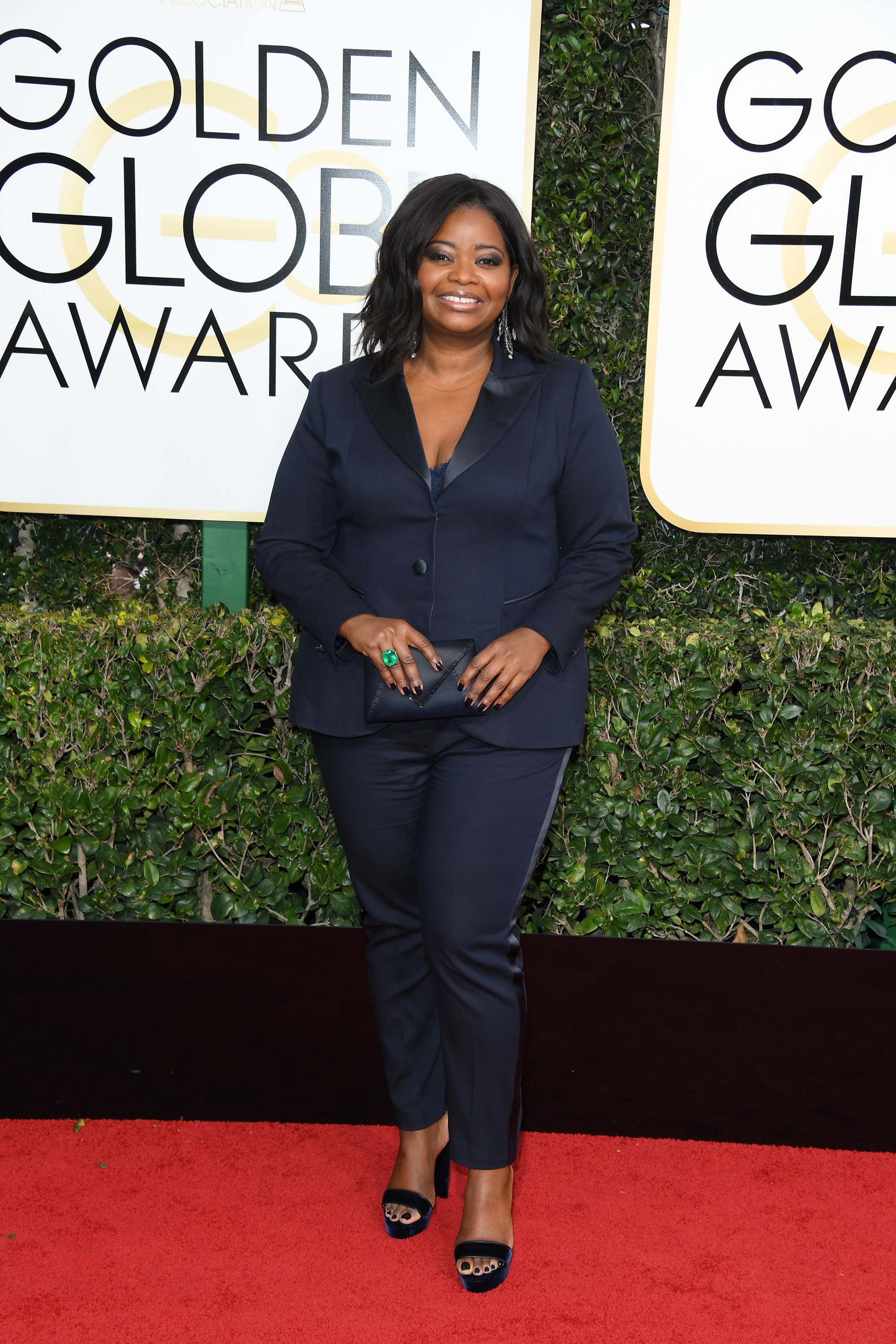 BEVERLY HILLS, CA - JANUARY 08: Actress Octavia Spencer attends the 74th Annual Golden Globe Awards held at The Beverly Hilton Hotel on January 8, 2017 in Beverly Hills, California. (Photo by George Pimentel/WireImage)