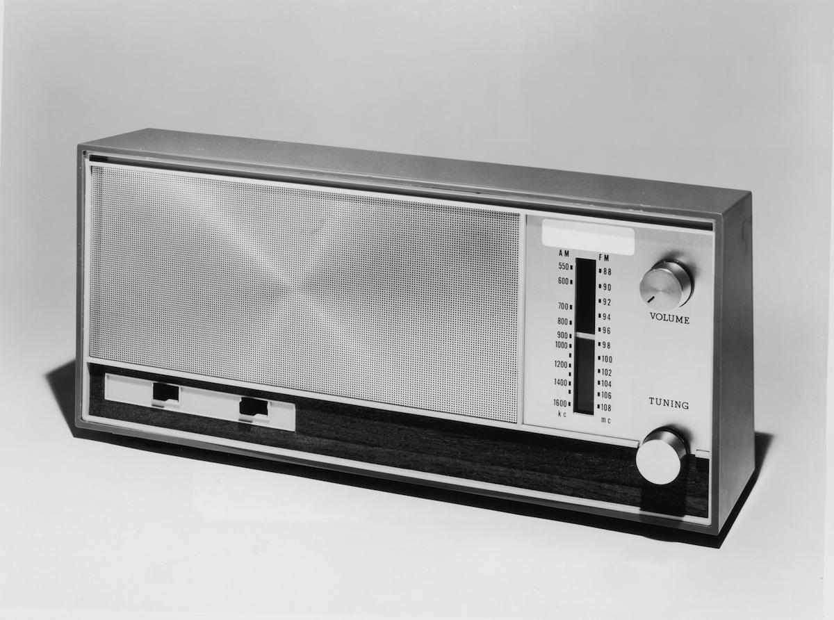 Still life of an AM-FM radio, circa 1965.