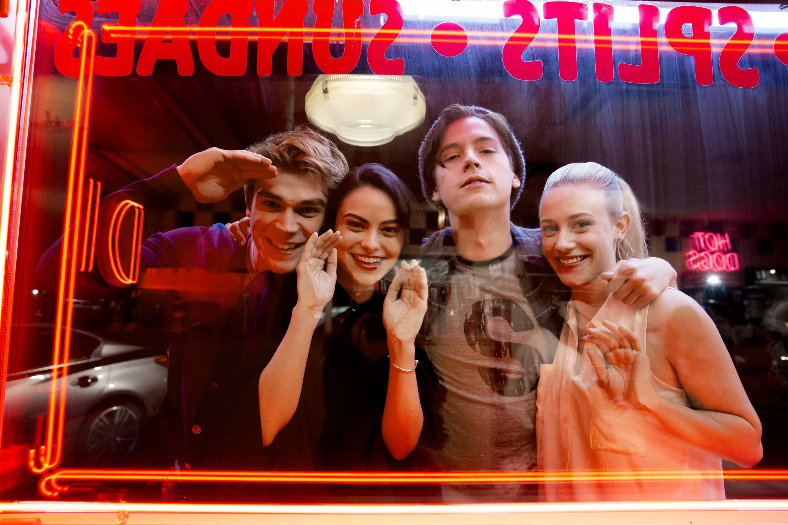 Sugar, sugar: Archie (Apa), Veronica (Mendes), Jughead (Sprouse) and Betty (Reinhart) reborn on the CW